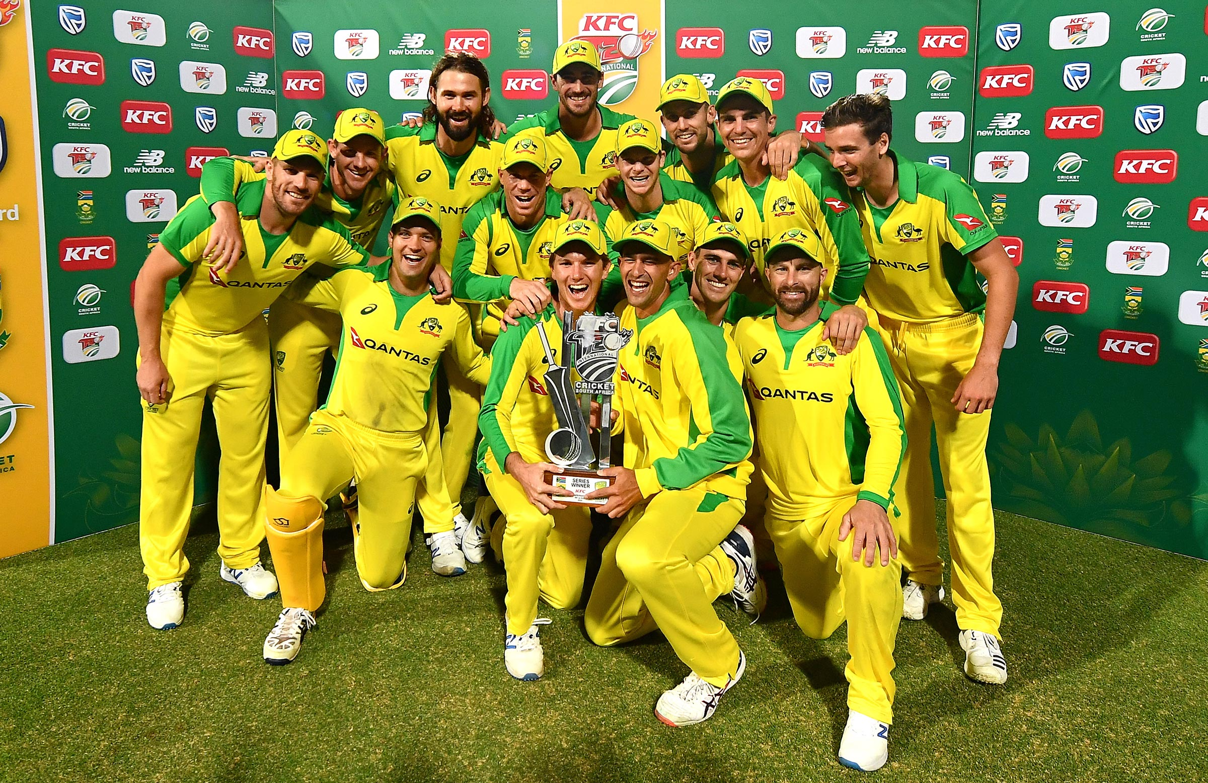 Four T20I series in a row for Australia // Getty