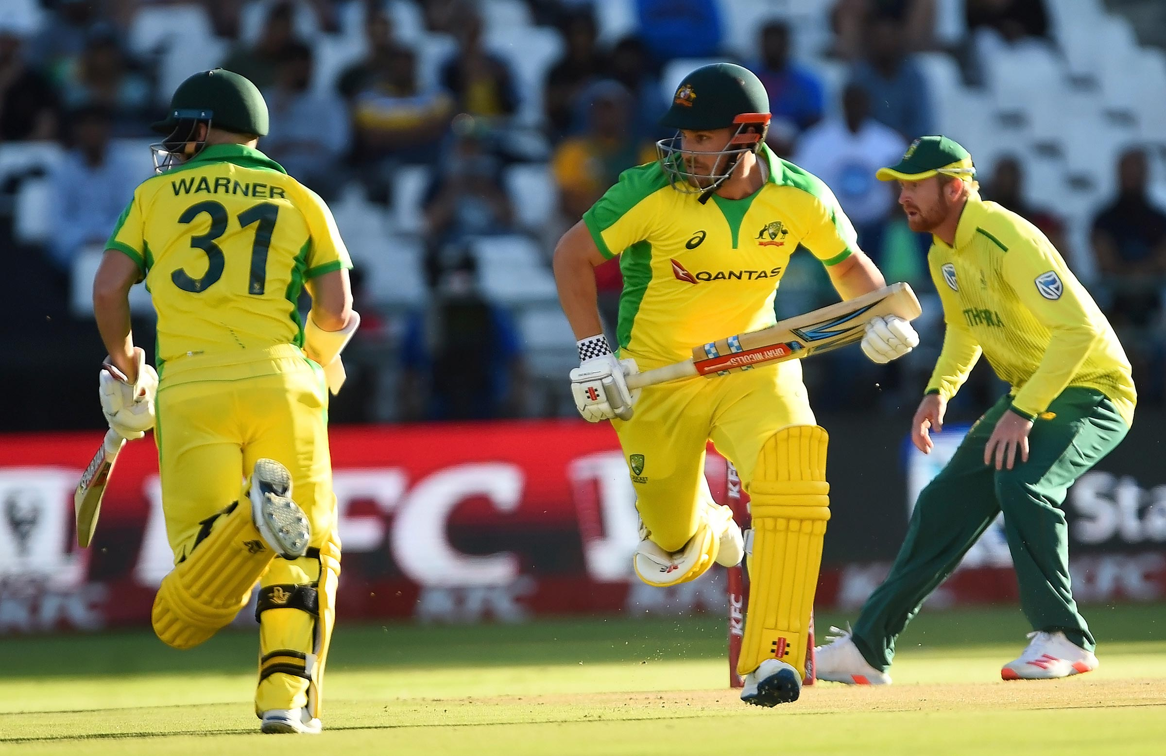Warner and Finch now have three century stands together in T20 cricket // AAP