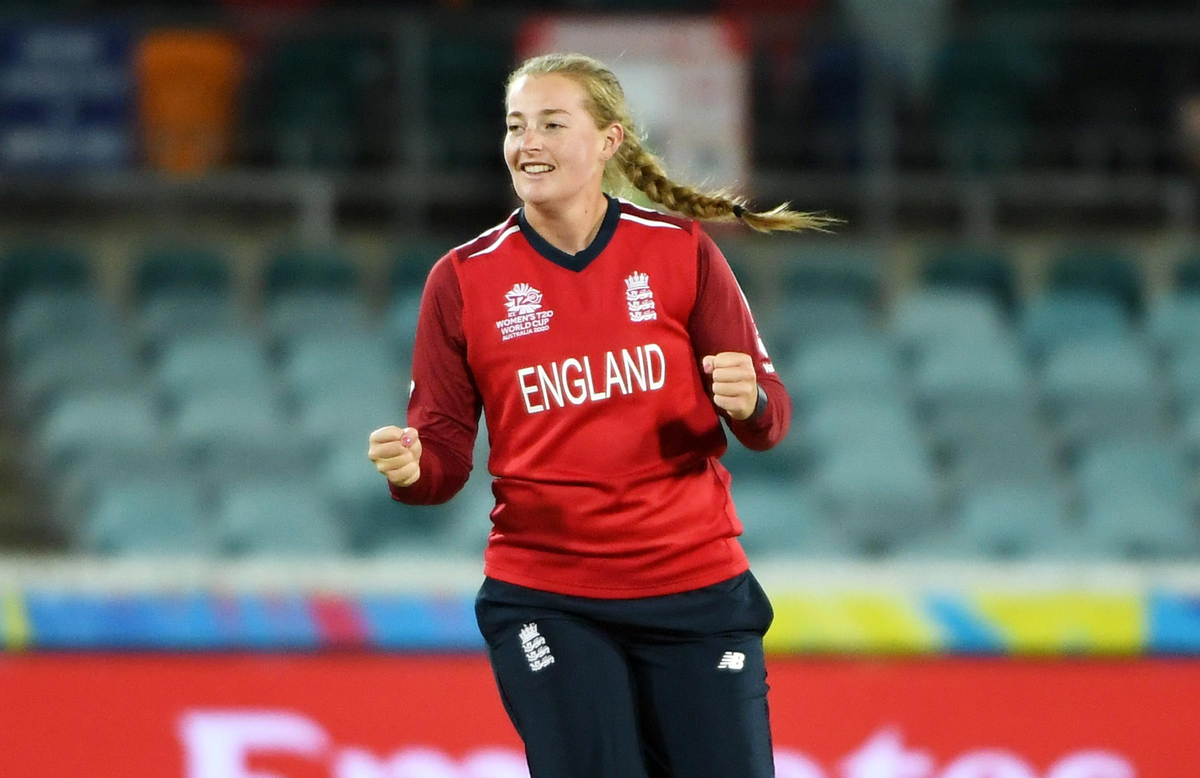 Ecclestone showed why she's regarded as one of the brightest prospects in cricket // Getty