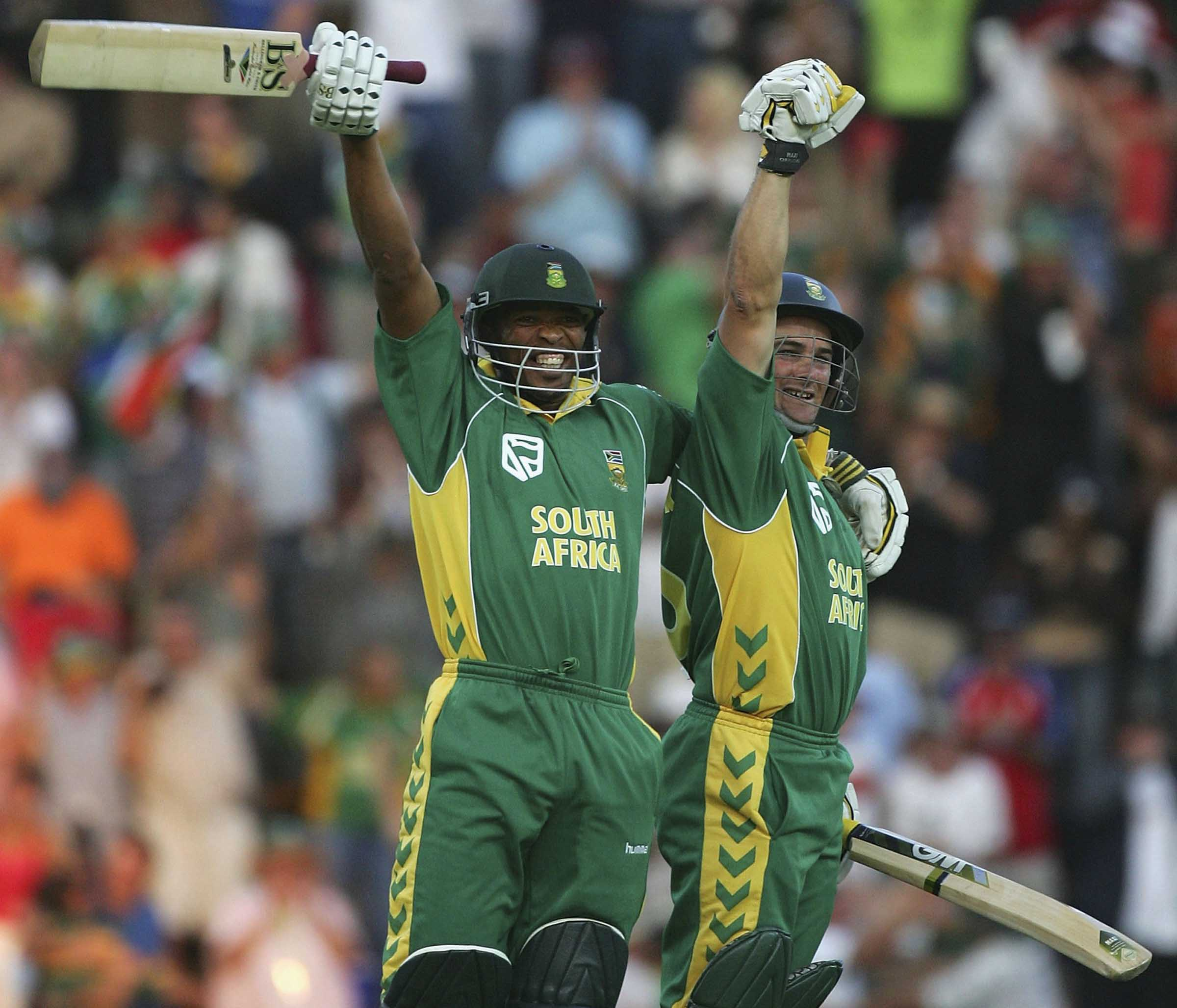 Ntini and Boucher - the Proteas' last-wicket pair // Getty