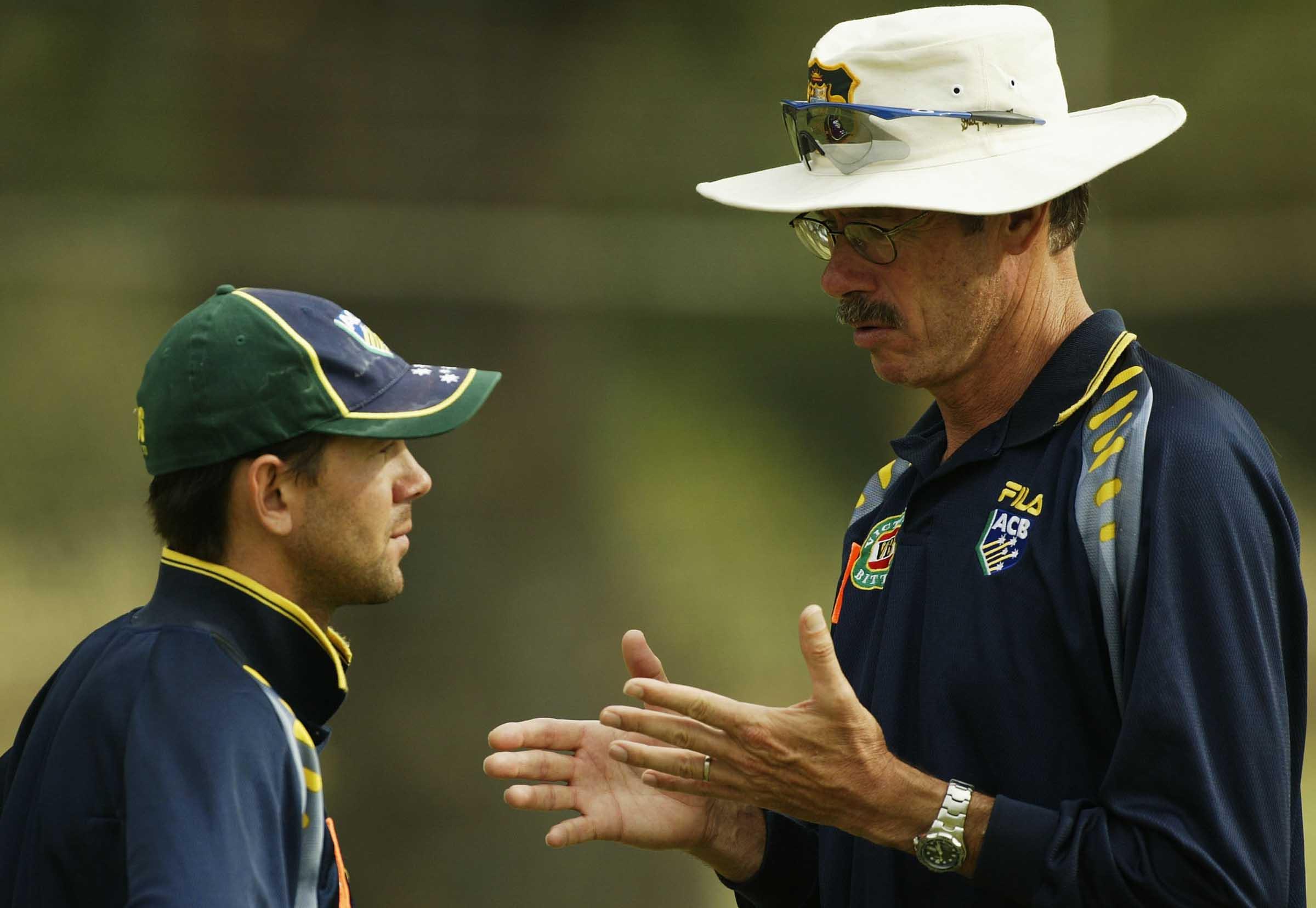 Ponting and Buchanan, Australia's new brains trust in 2002 // Getty