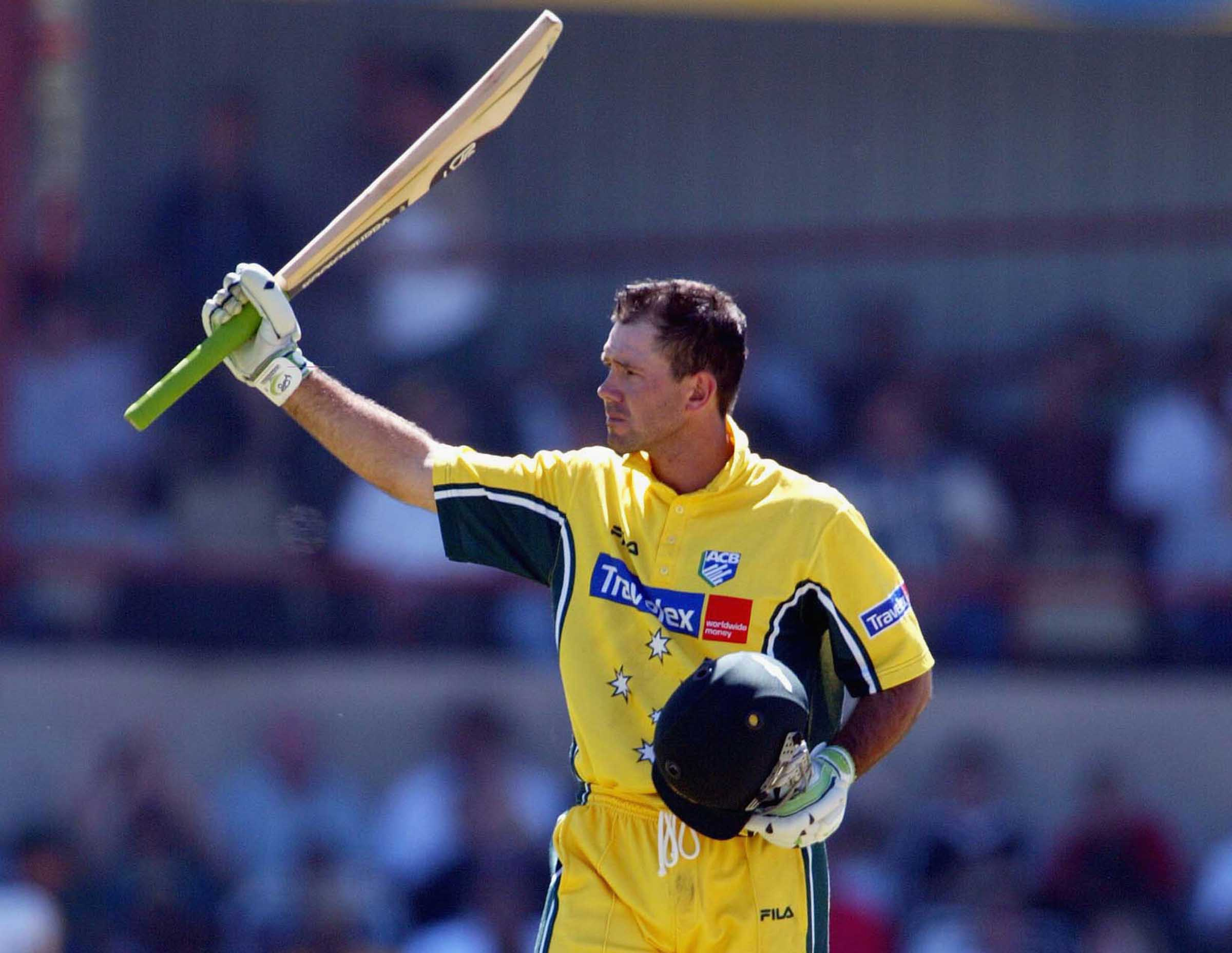 Ponting salutes with his maiden hundred as ODI captain // Getty