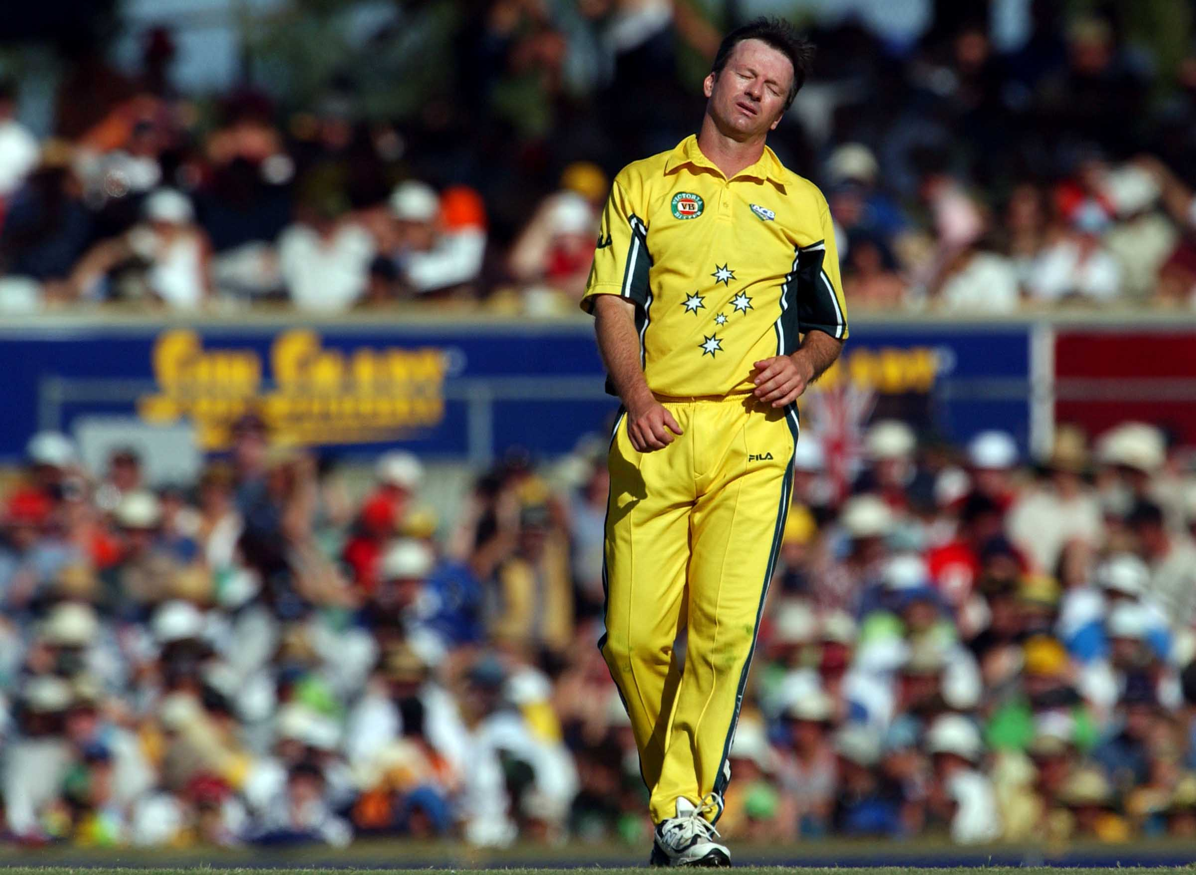 A frustrated Waugh during his final ODI // Getty