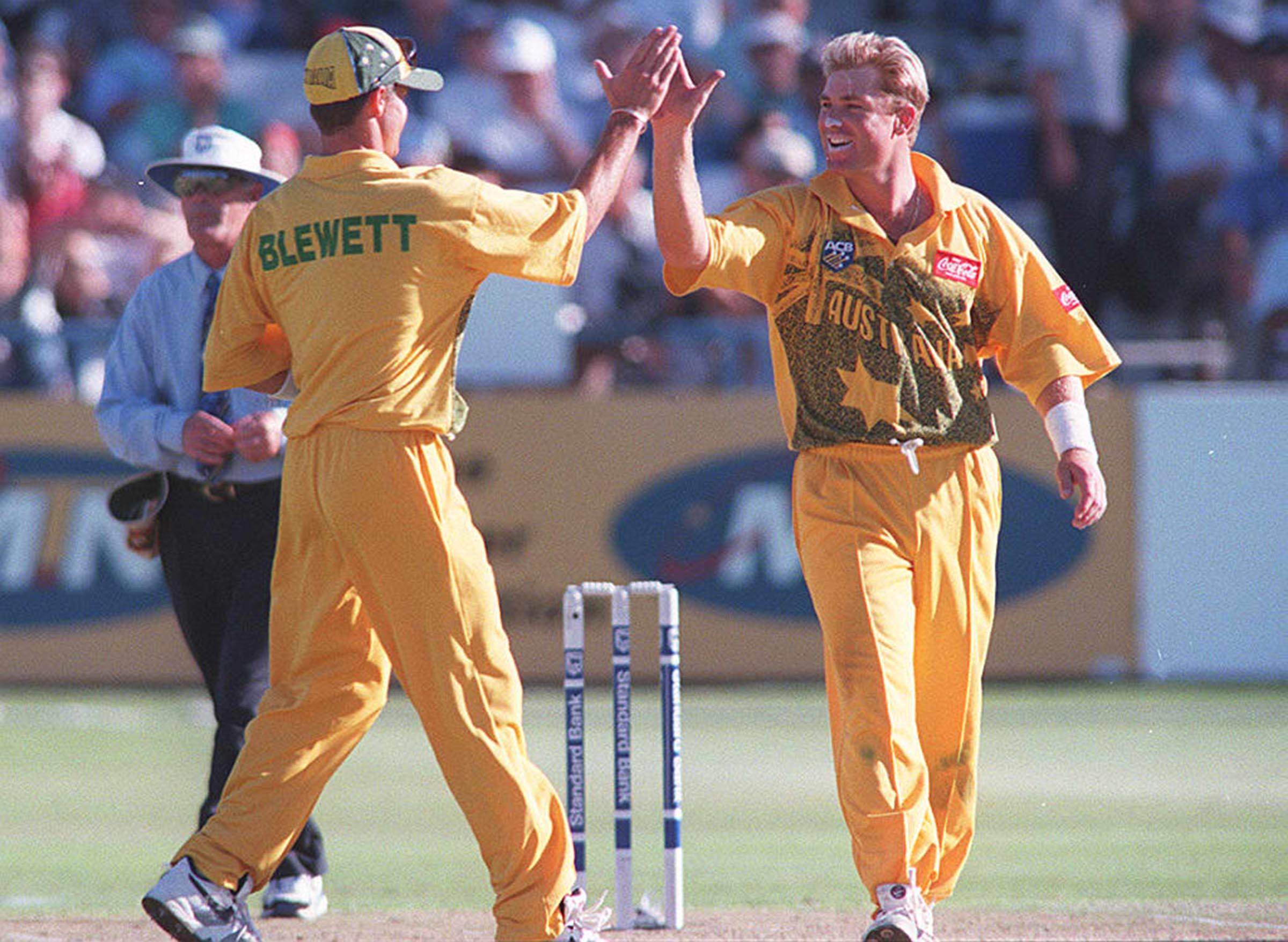 Shane Warne celebrates yet another wicket // Getty