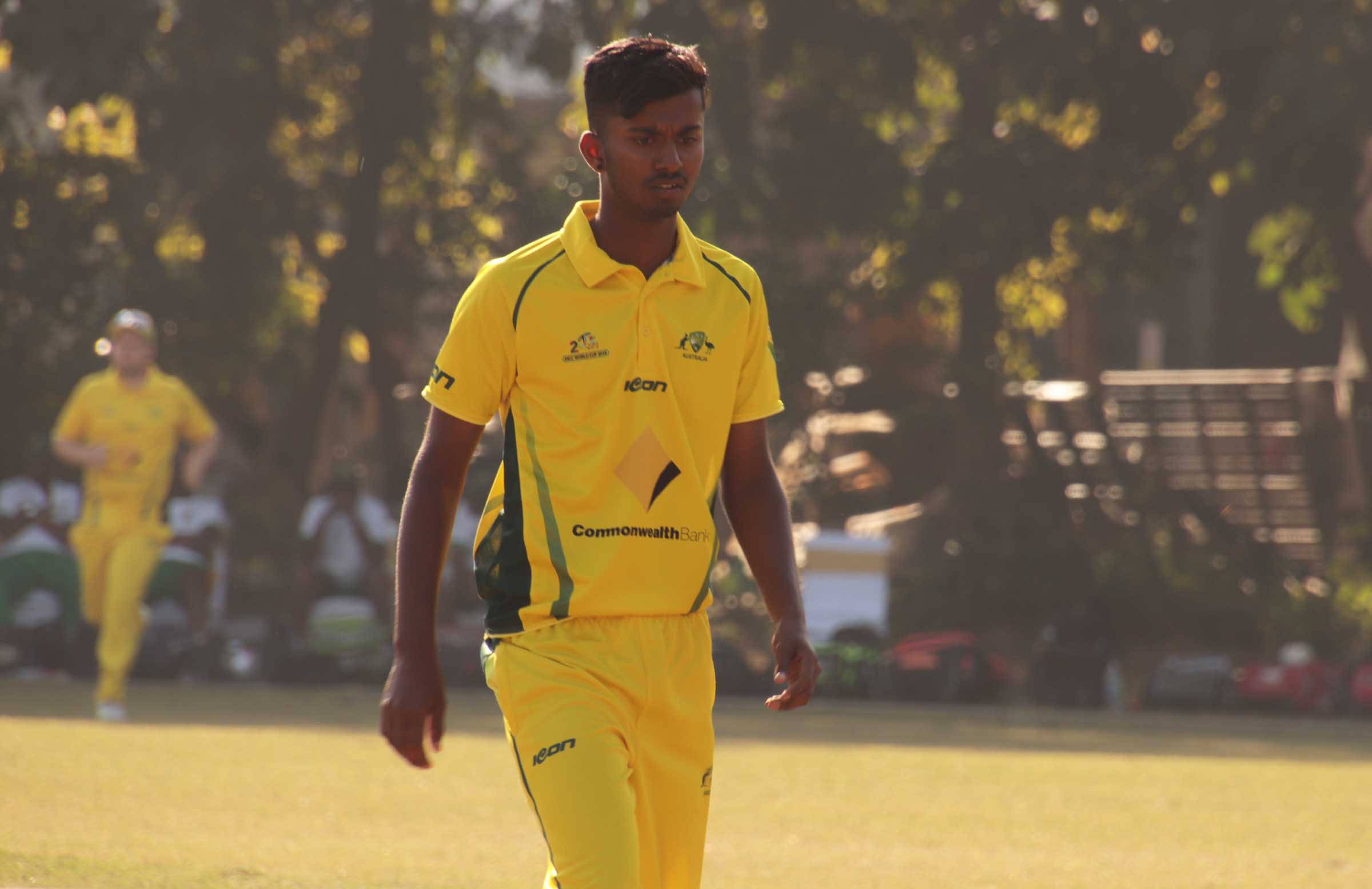 In action for Australia during the 2018 Deaf Cricket World Cup // CA