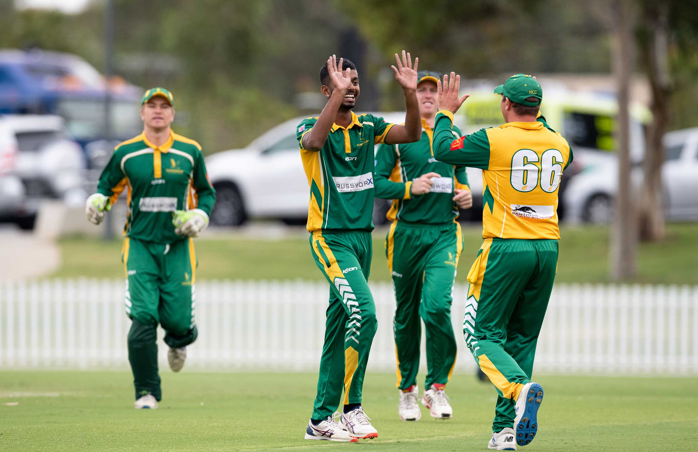 Celebrating a wicket with Peter Forrest during the recent National Premier Cricket T20 Championships // CA