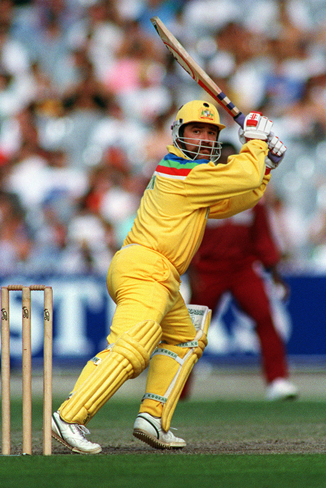 David Boon in action during the 1992 Cricket World Cup