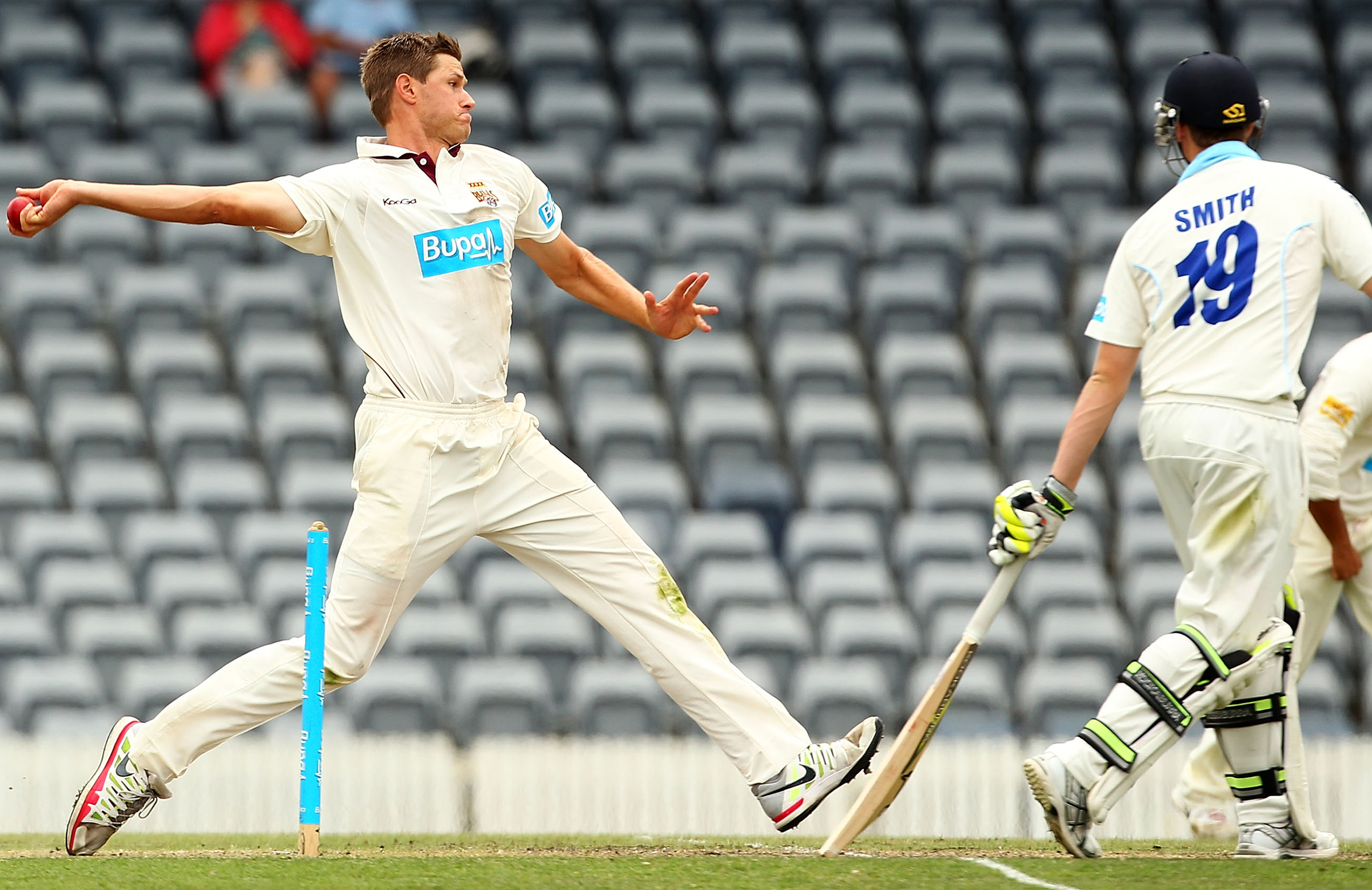 After taking 31 wickets at 23.51 in '12-13, Gannon was cited for throwing // Getty