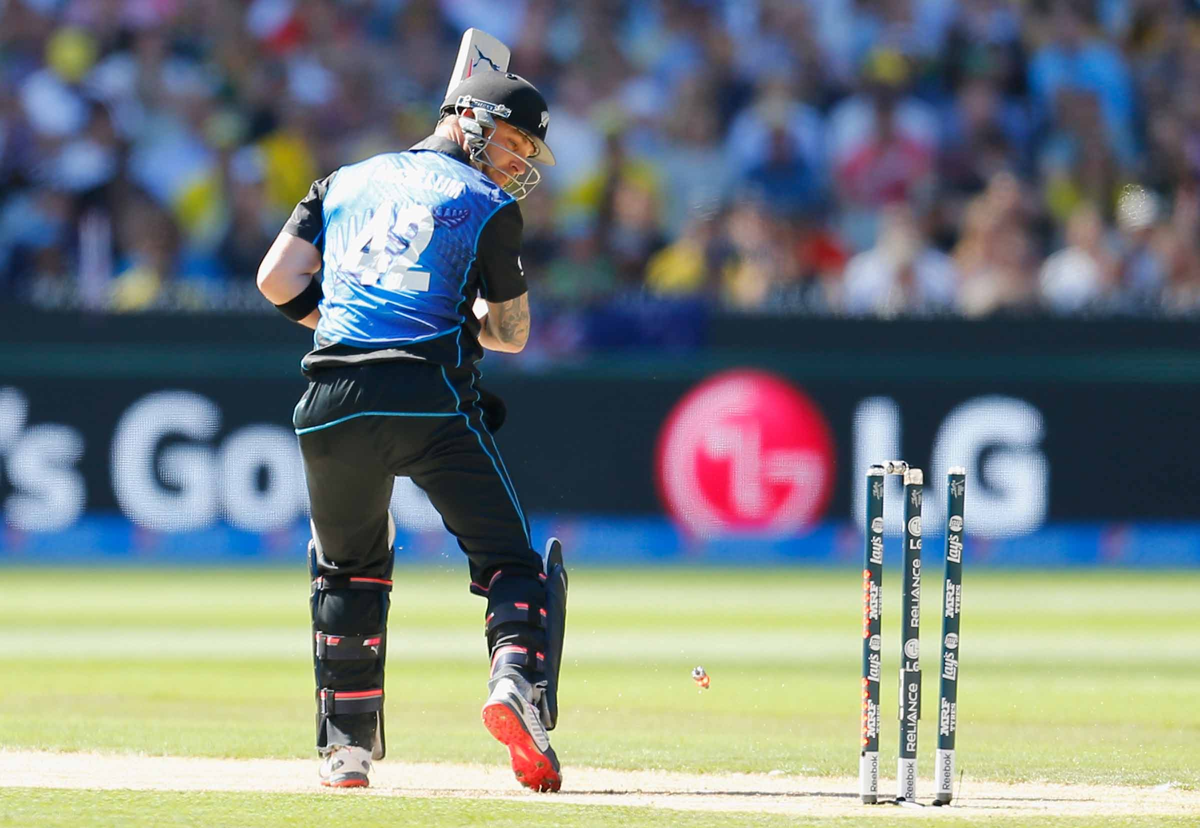 McCullum discovers the bad news // Getty