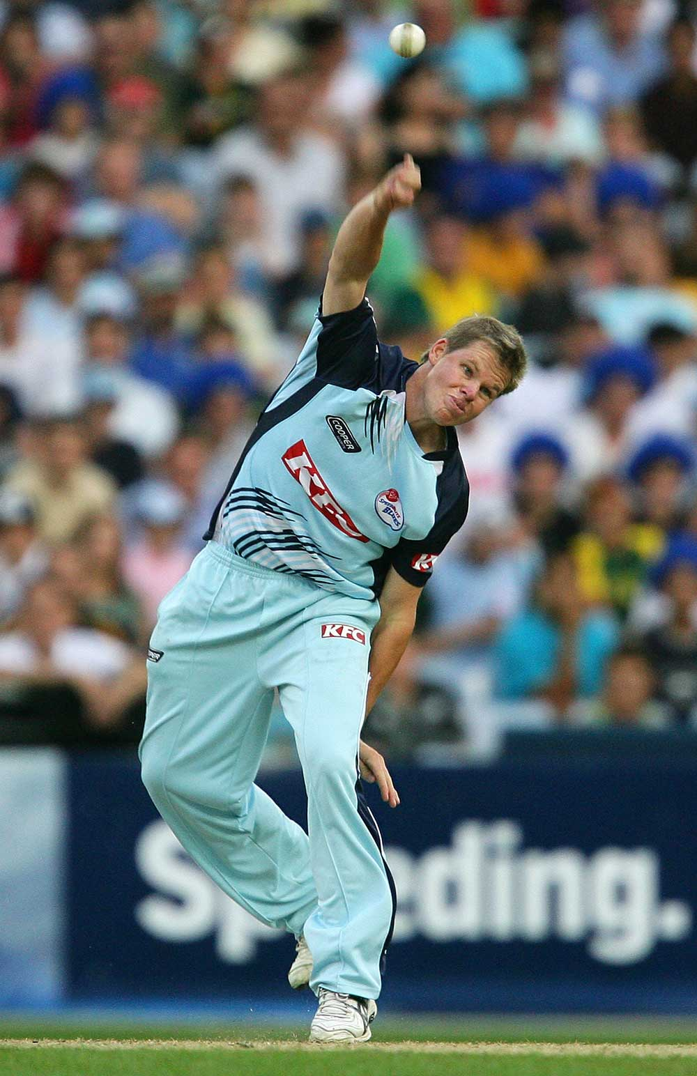 Steve Smith spins one during a Big Bash game with NSW in early 2010 // Getty