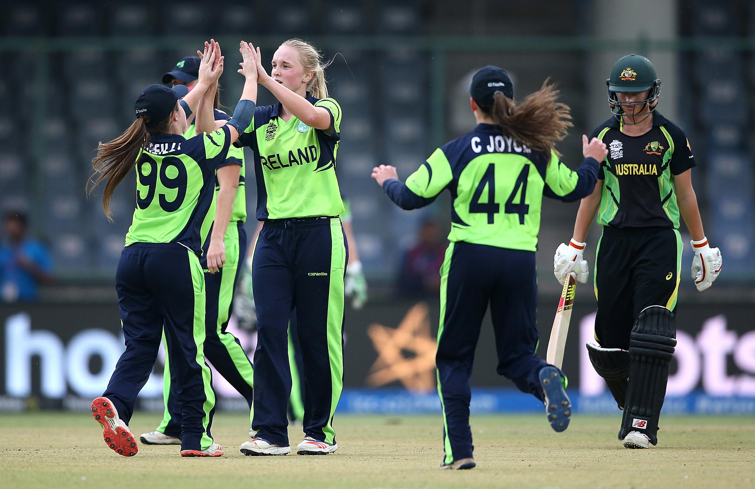 Garth celebrates the wicket of Meg Lanning at the 2016 World Cup // Getty