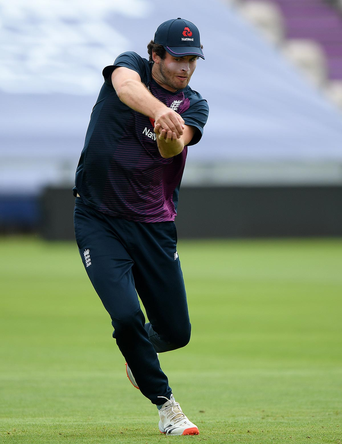 Sibley at England training this week // Getty