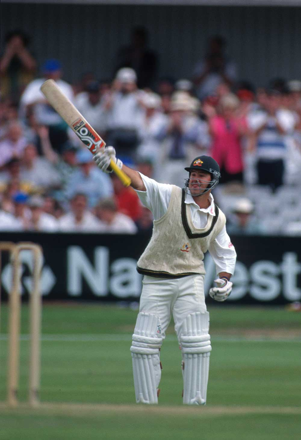 Ponting salutes his maiden Test ton // Getty