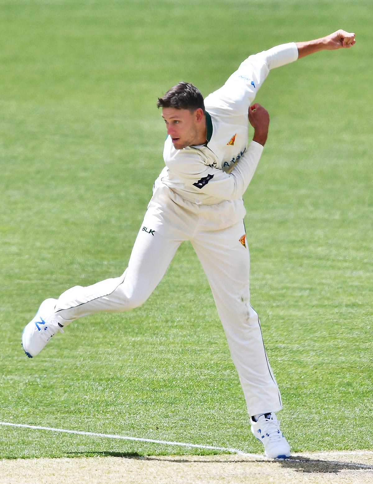 Webster bowling off-spin // Getty