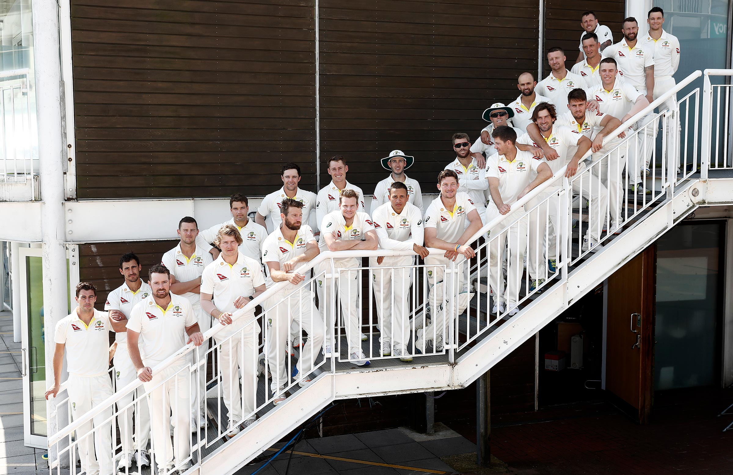 Australia's extended squad ahead of last year's Ashes campaign // Getty