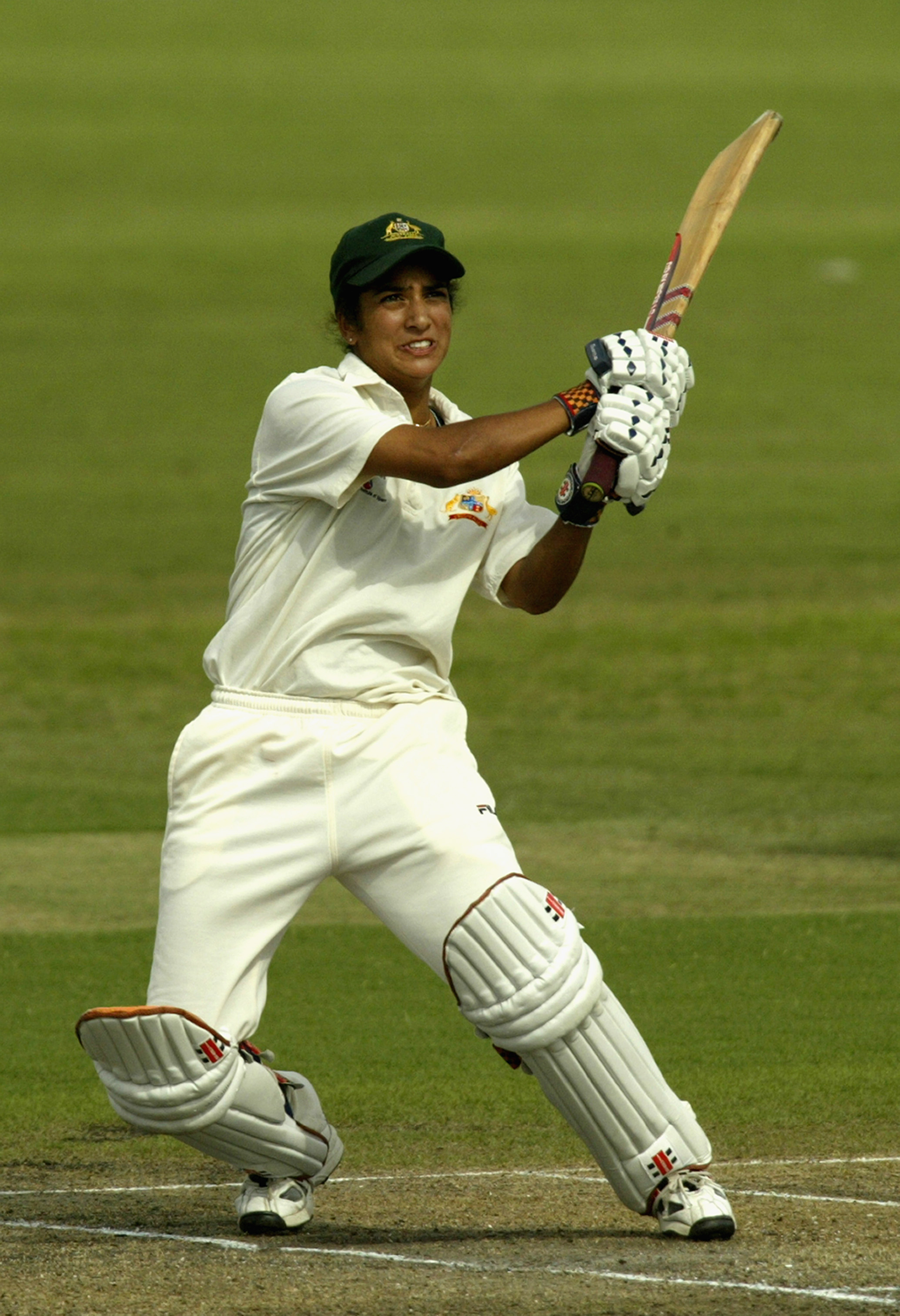 Sthalekar pulls one during the 2003 Ashes // Getty