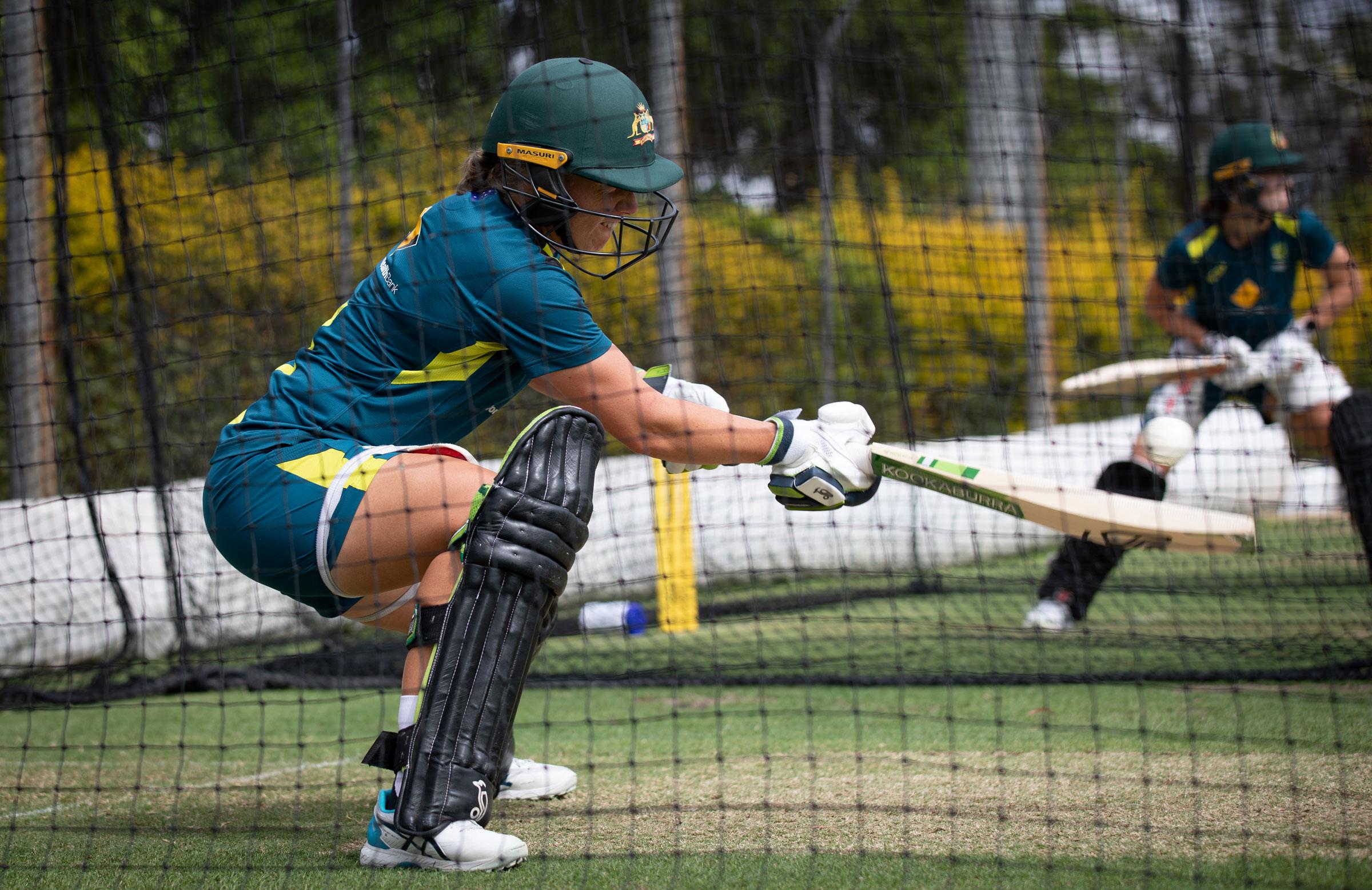 Alyssa Healy in the Brisbane nets // cricket.com.au