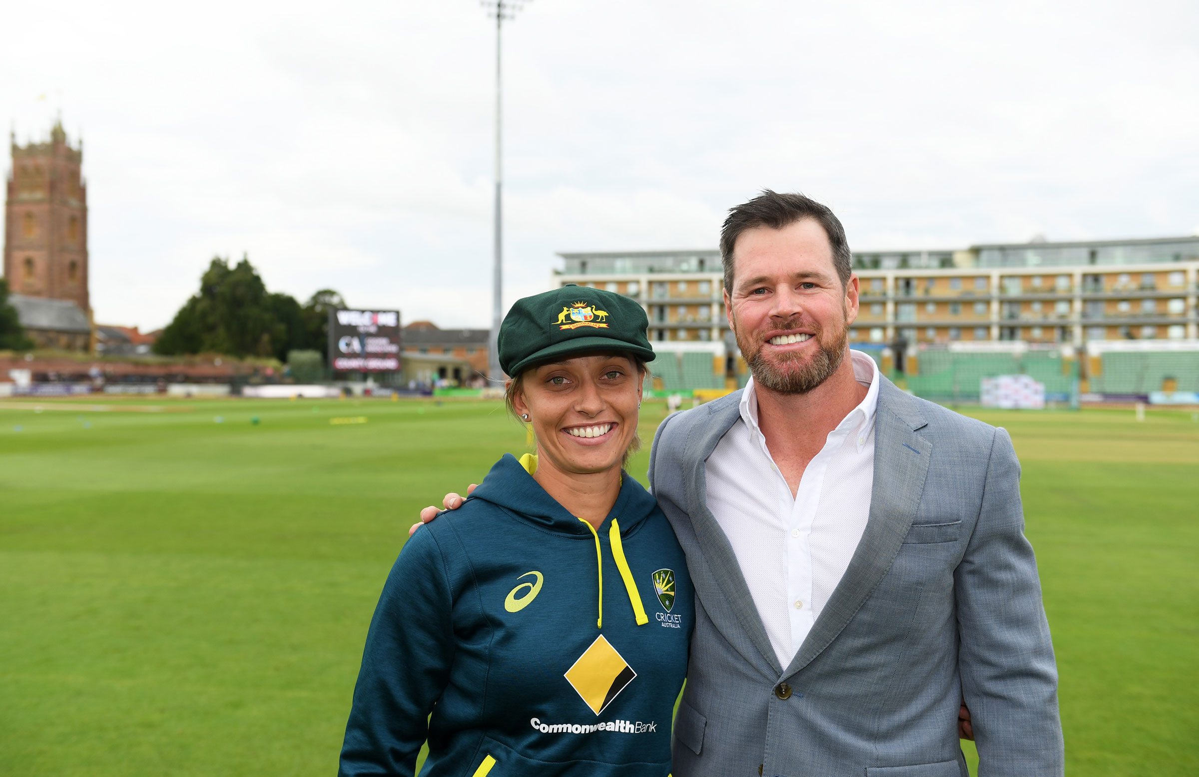 Ashleigh Gardner was presented with her Baggy Green by Dan Christian // Getty