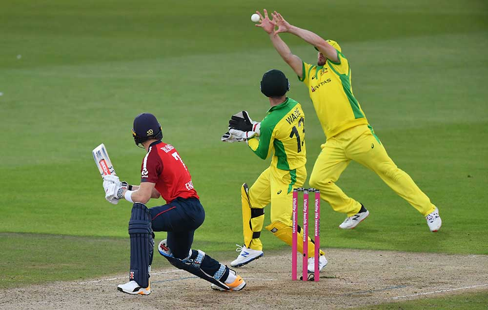 Finch reels in a sharp chance at slip // Getty