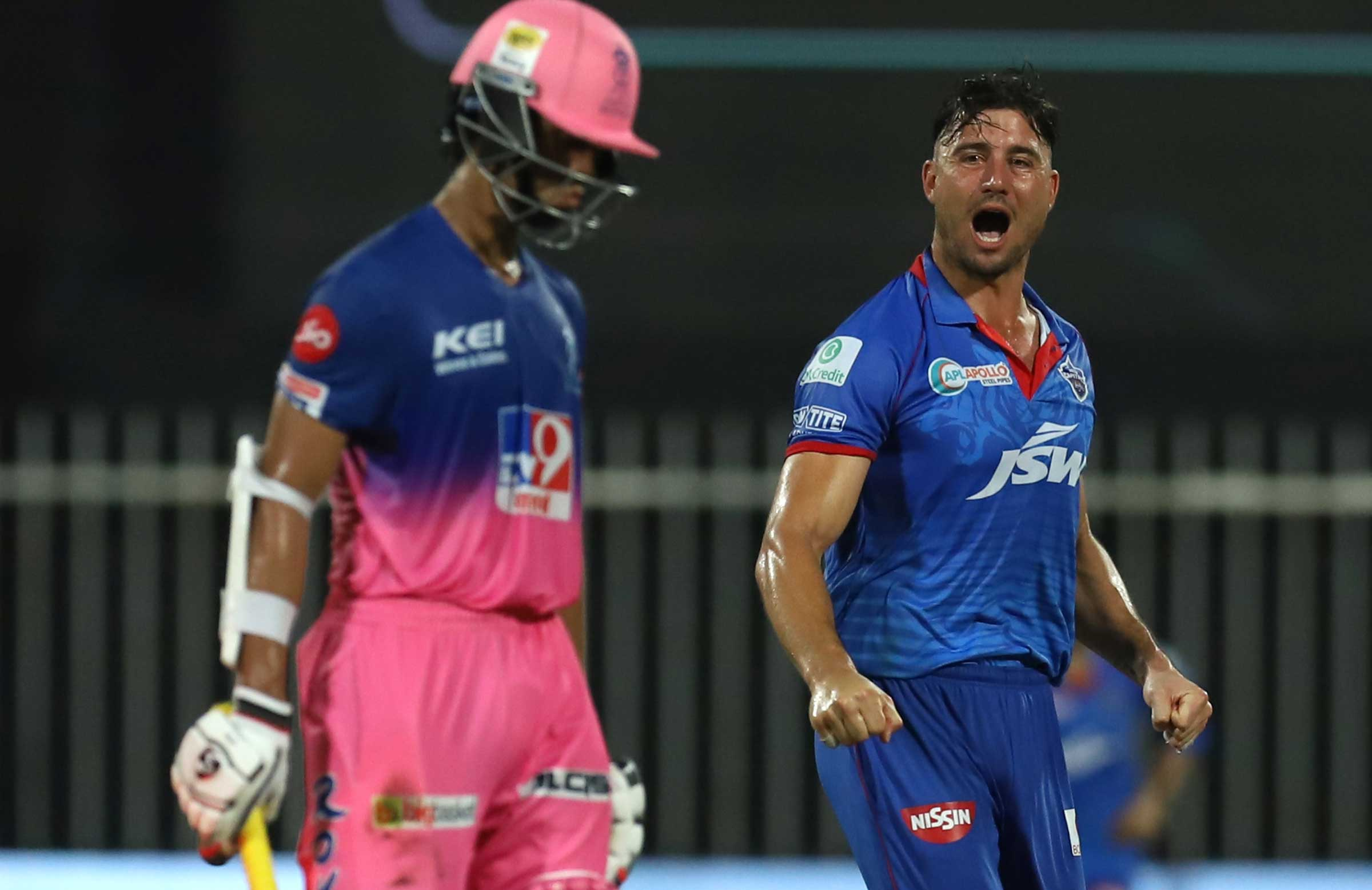Stoinis has five wickets at 22.80 this season // BCCI/IPL