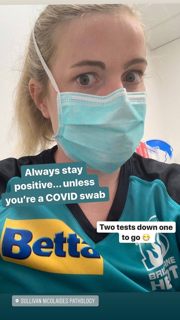 Georgia Redmayne shared this snap from the WBBL hub // Instagram