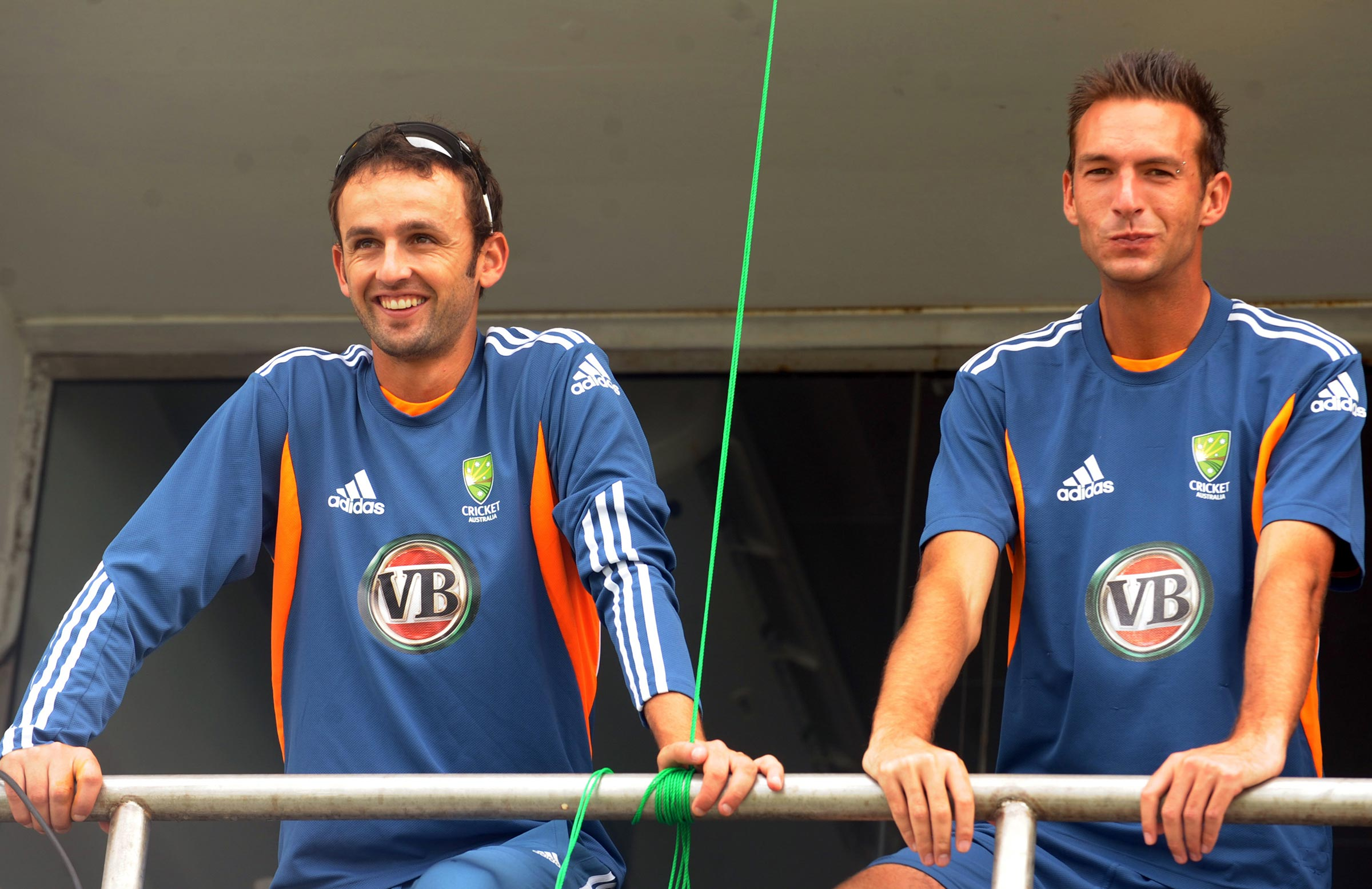 Lyon on his maiden Test tour alongside current Blues teammate Trent Copeland // Getty