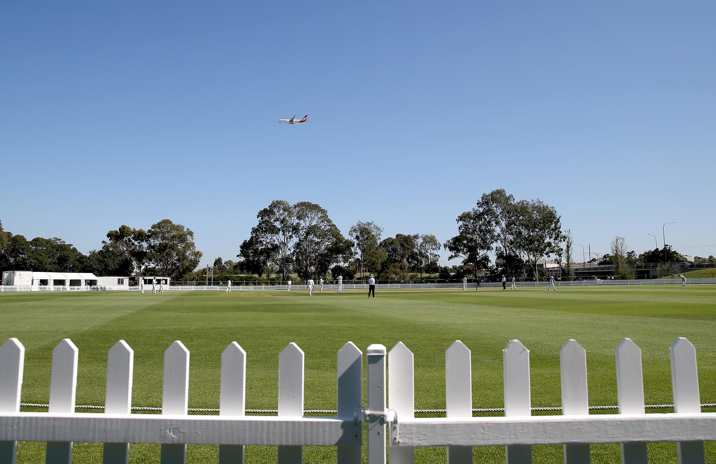 Gladys Elphick Park is now surrounded by a white picket fence // AAP