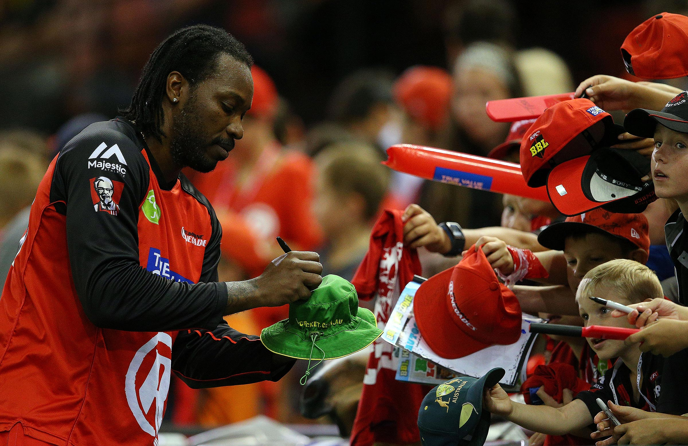 Chris Gayle's final big bash was a memorable one // Getty