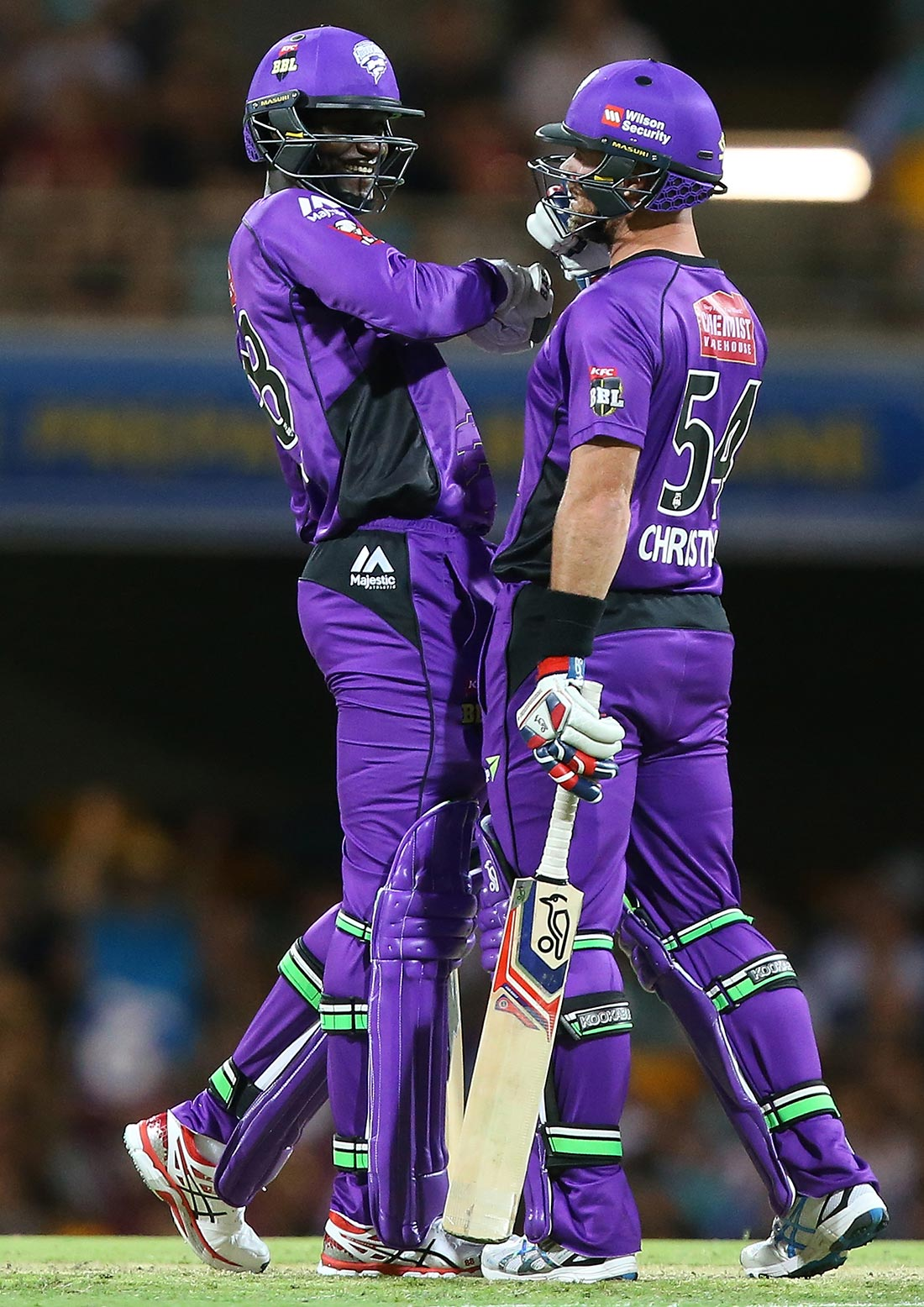 Sammy congratulates Christian on his monster hit // Getty