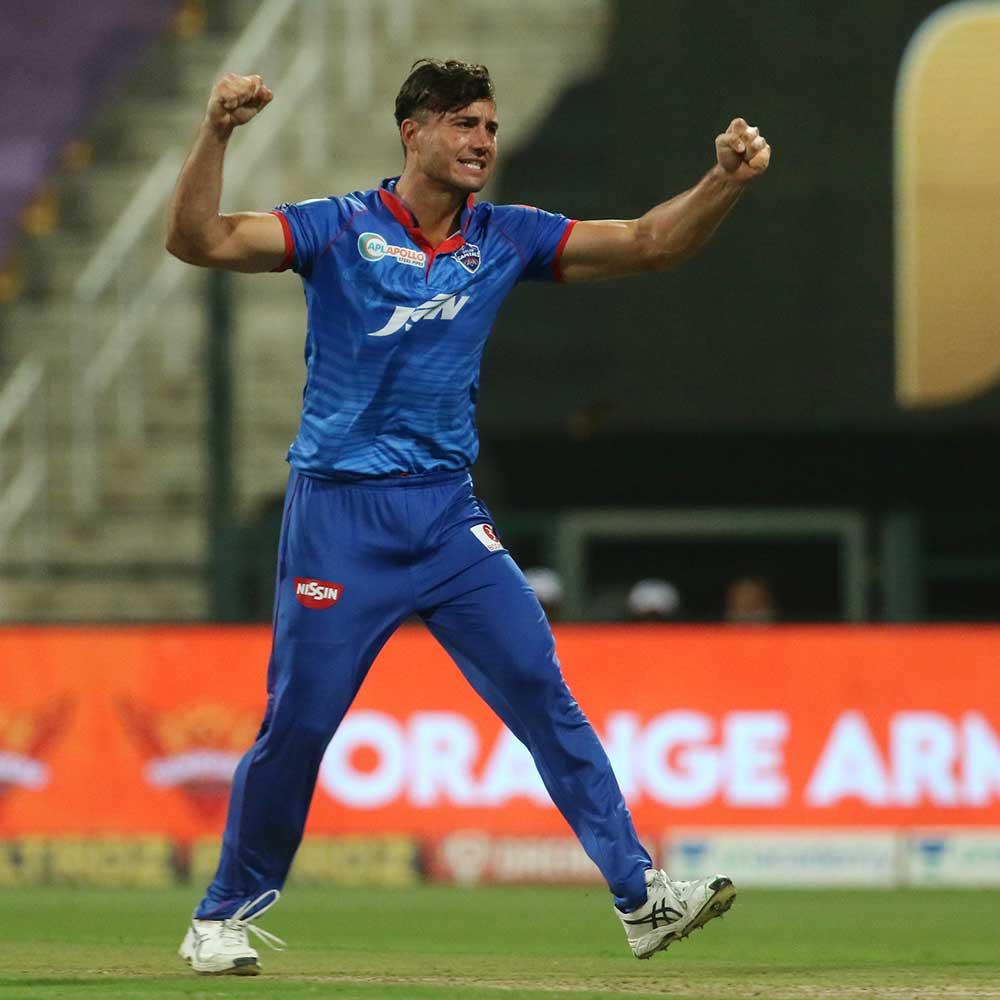 Marcus Stoinis celebrates the wicket of Kane Williamson // BCCI/IPL