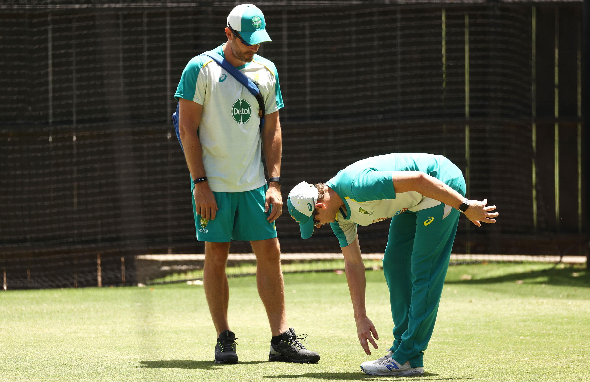 Smith stretches at training on Wednesday // Getty