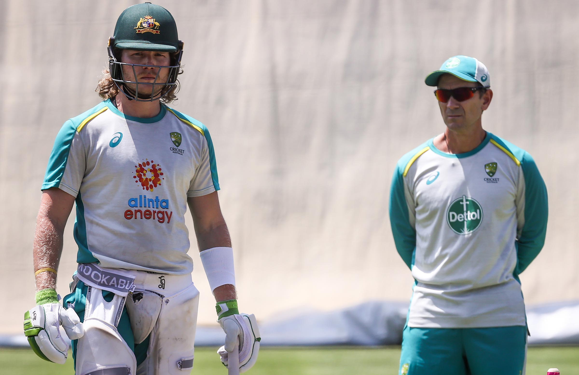 Pucovski and Langer at training in Sydney // Getty