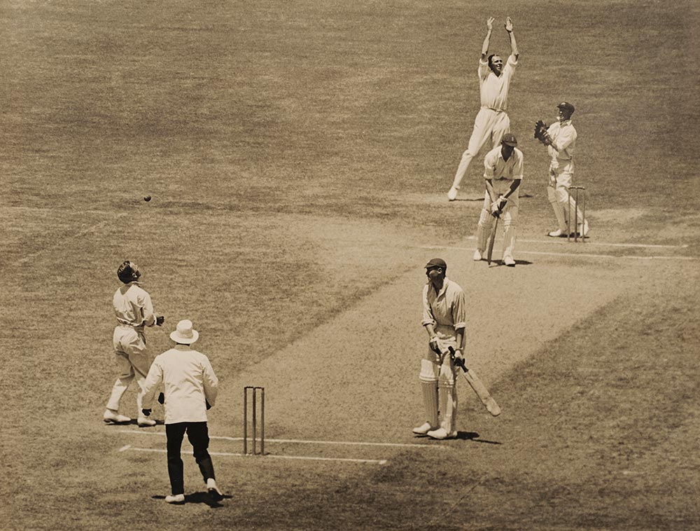 Mailey celebrates a caught-and-bowled in the 1925 MCG Test // Getty