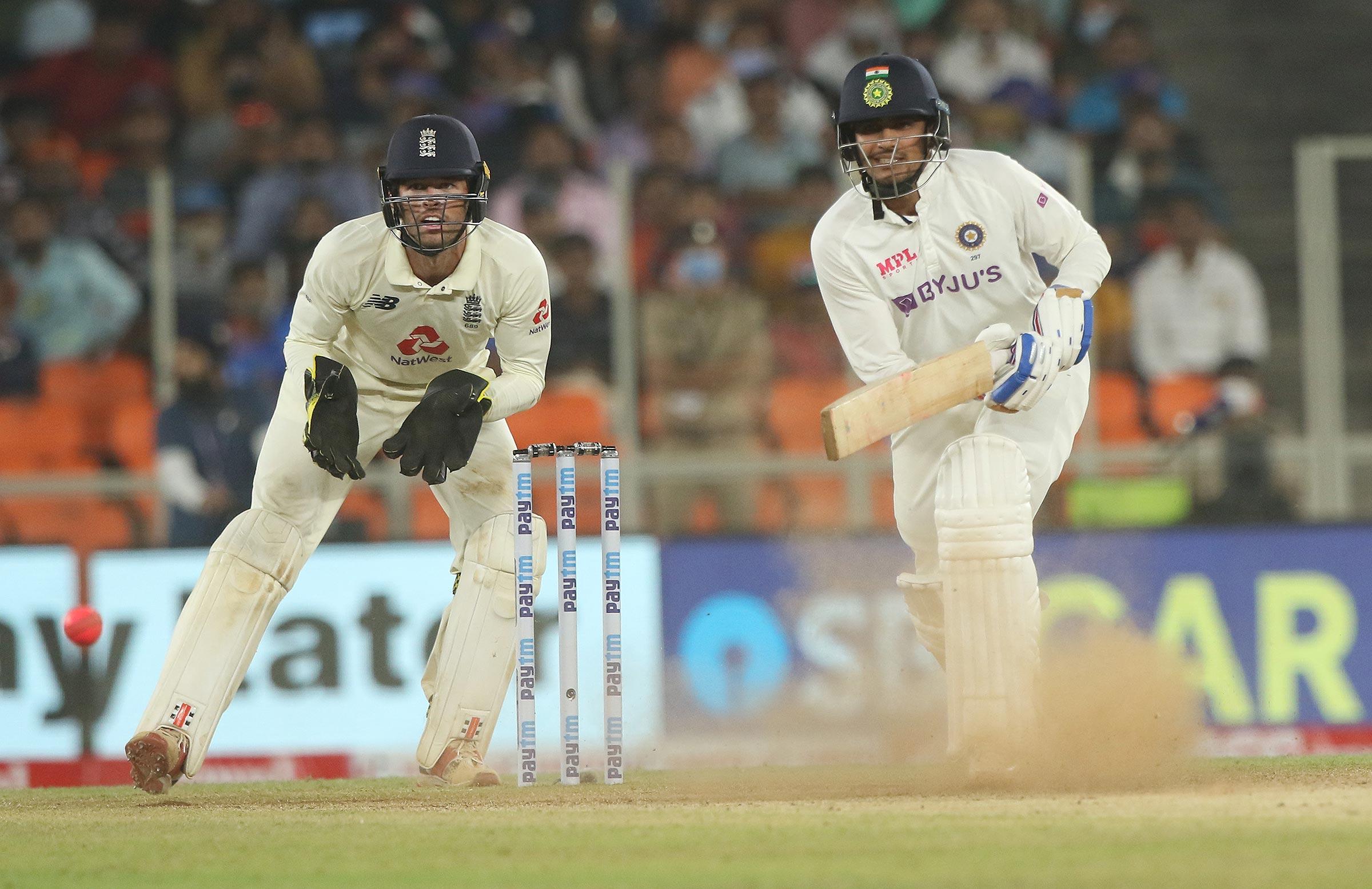 Shubman Gill bats in India's second innings // BCCI-Sportzpics