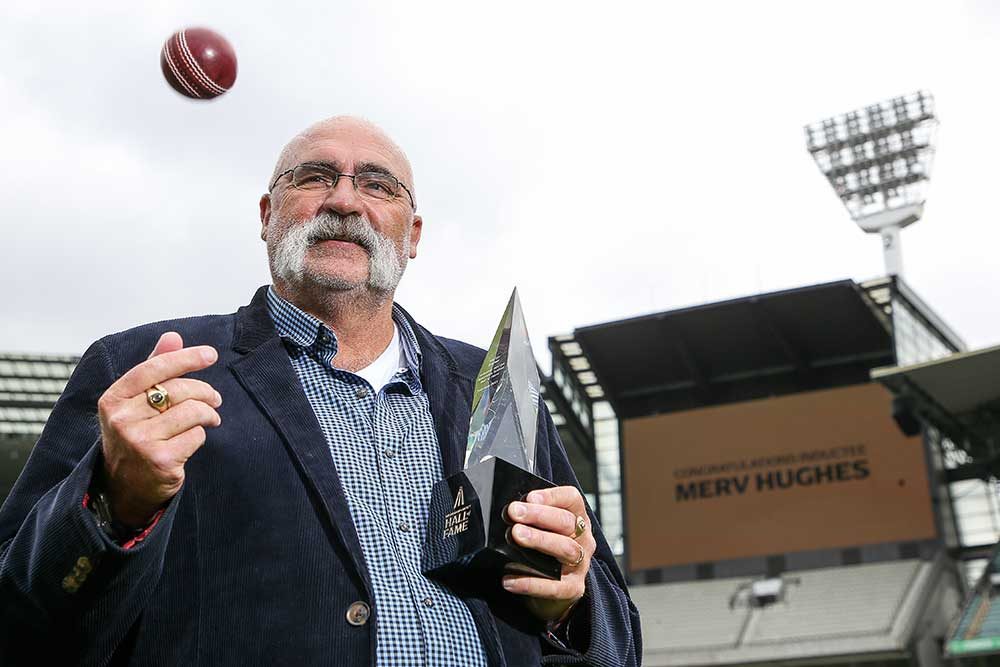 Merv Hughes at the MCG where he was inducted to the Hall of Fame // Getty