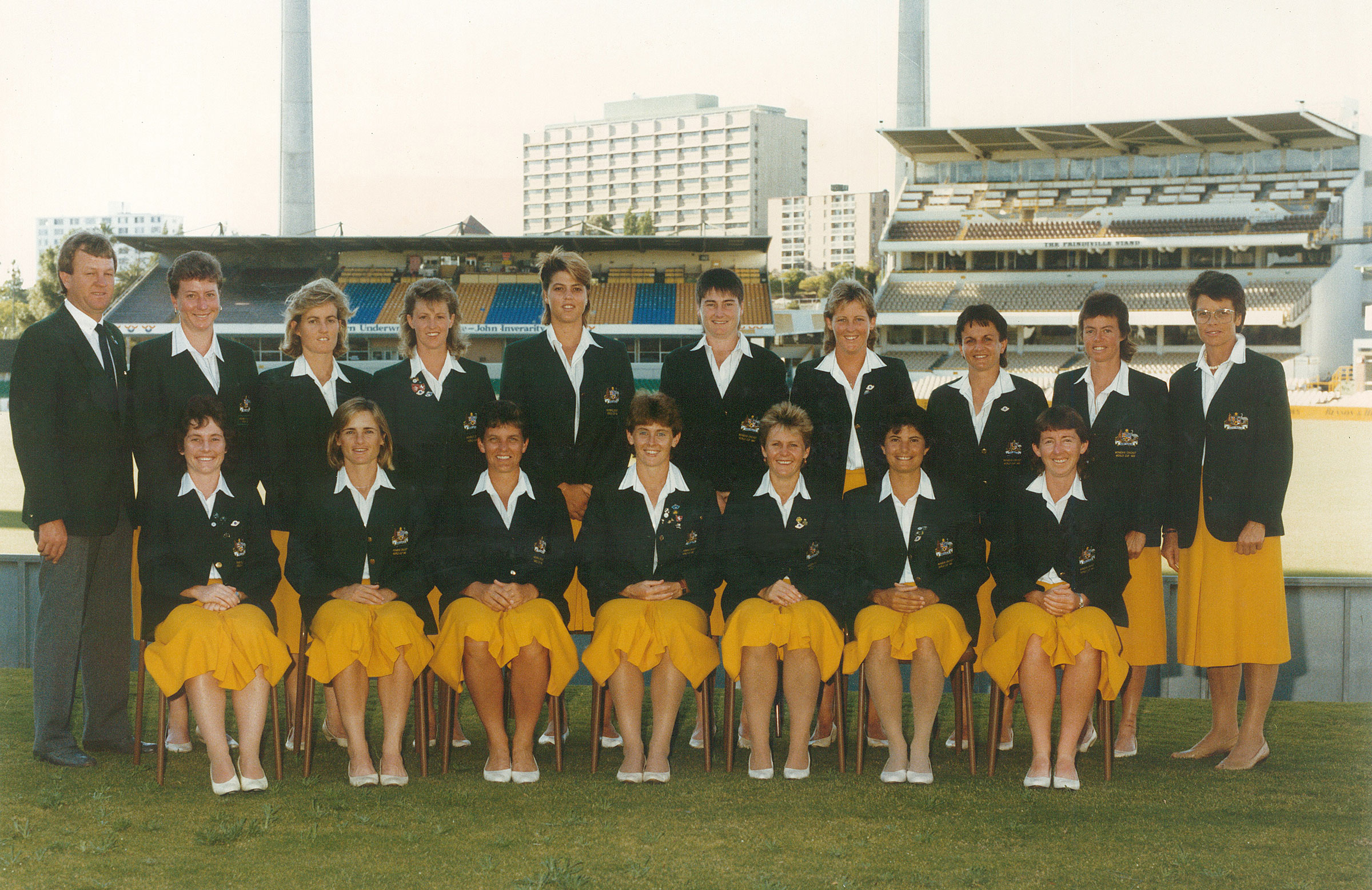 Lyn Larsen (centre front) captained Australia to victory in 1988 // Supplied
