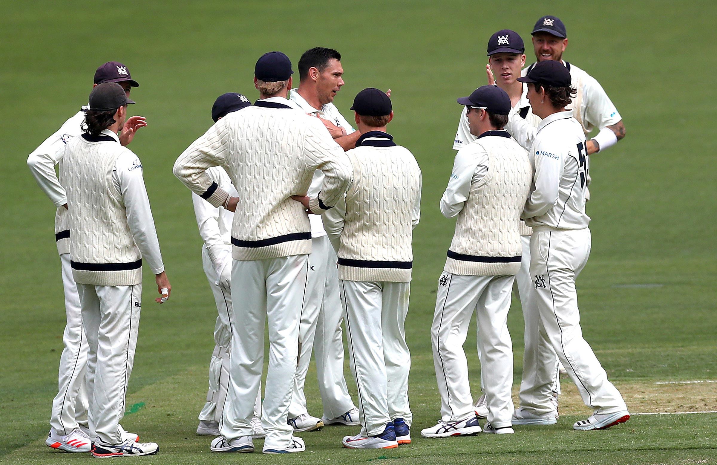 Victoria took two wickets while Tasmania's No.6 was in the air over Bass Strait // Getty
