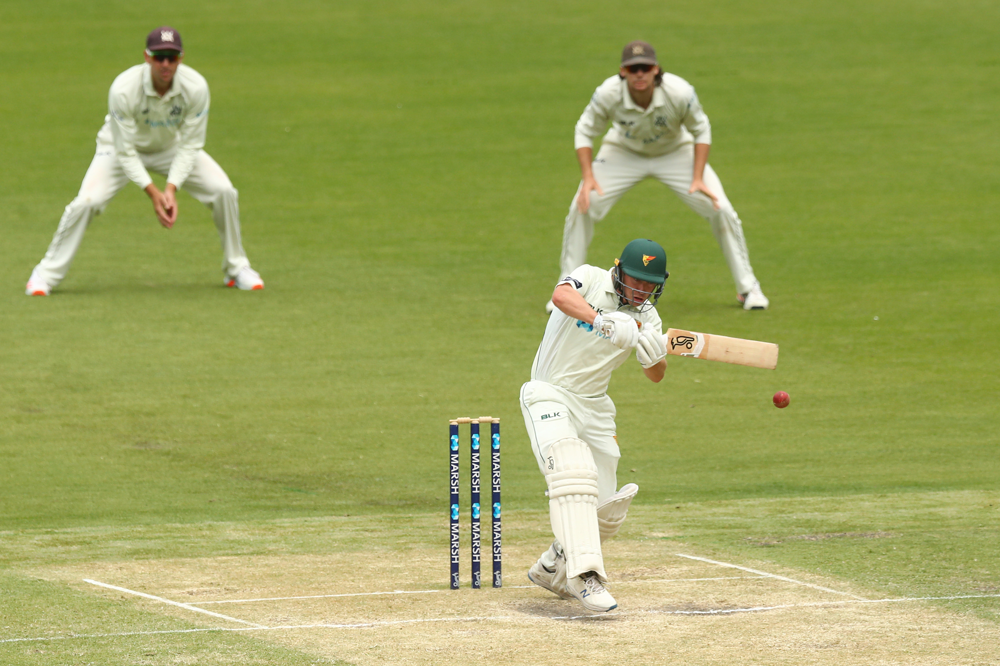 Doran has now made scores of 97, 98 and 99 for Tasmania // Getty
