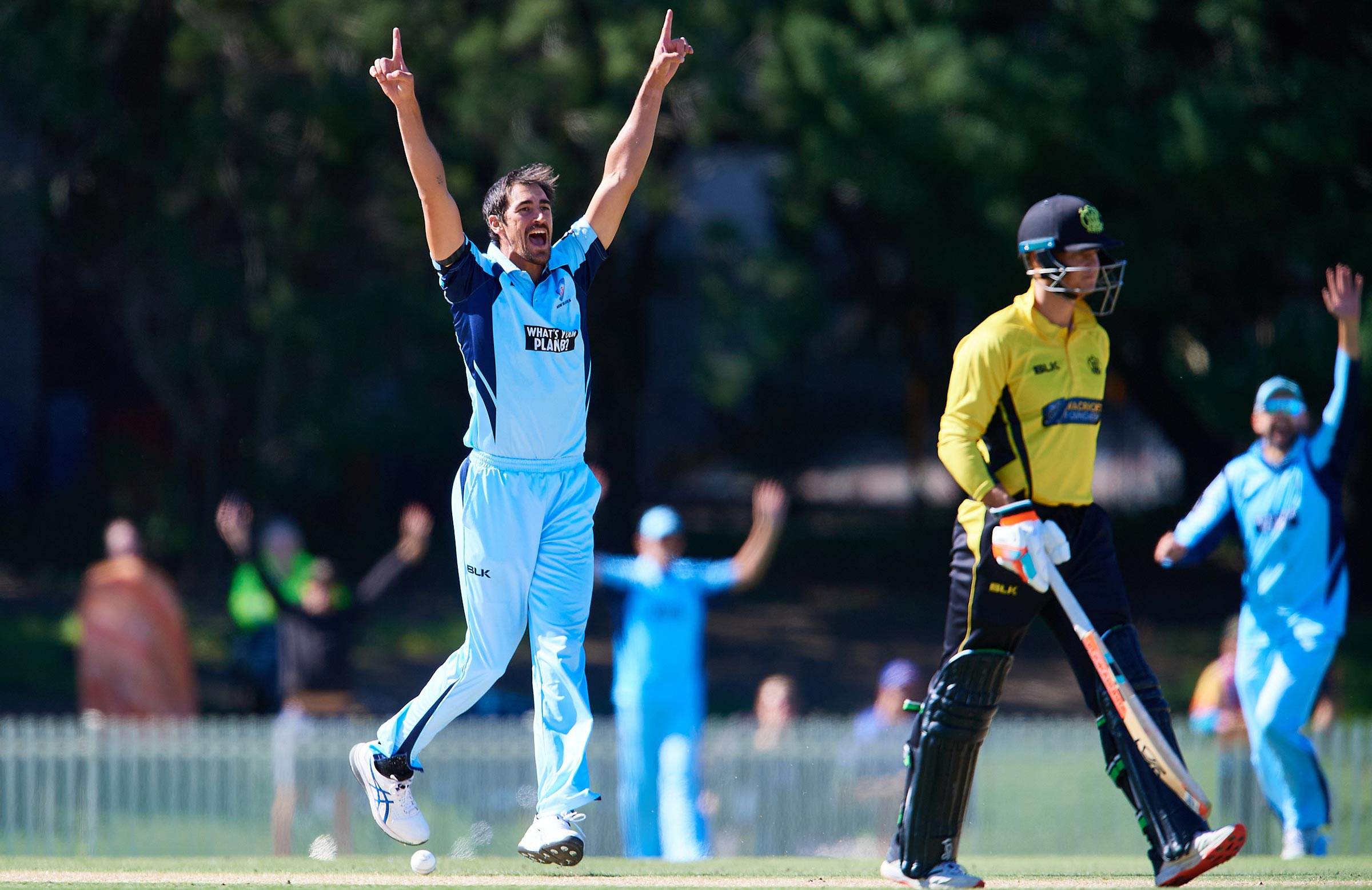 Starc removed Whiteman for a golden duck // Getty