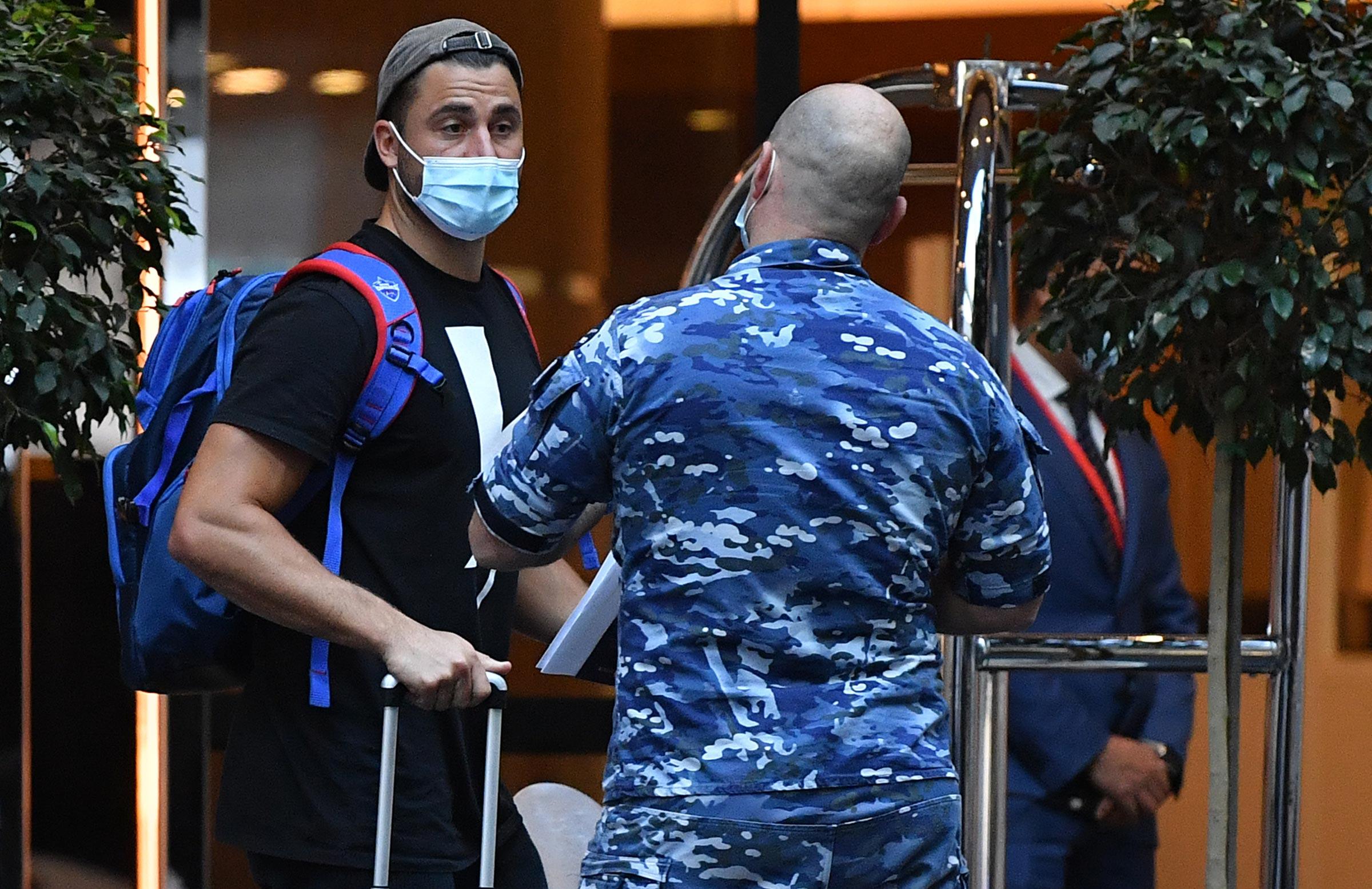 Australia's IPL contingent entered hotel quarantine on Monday // AAP