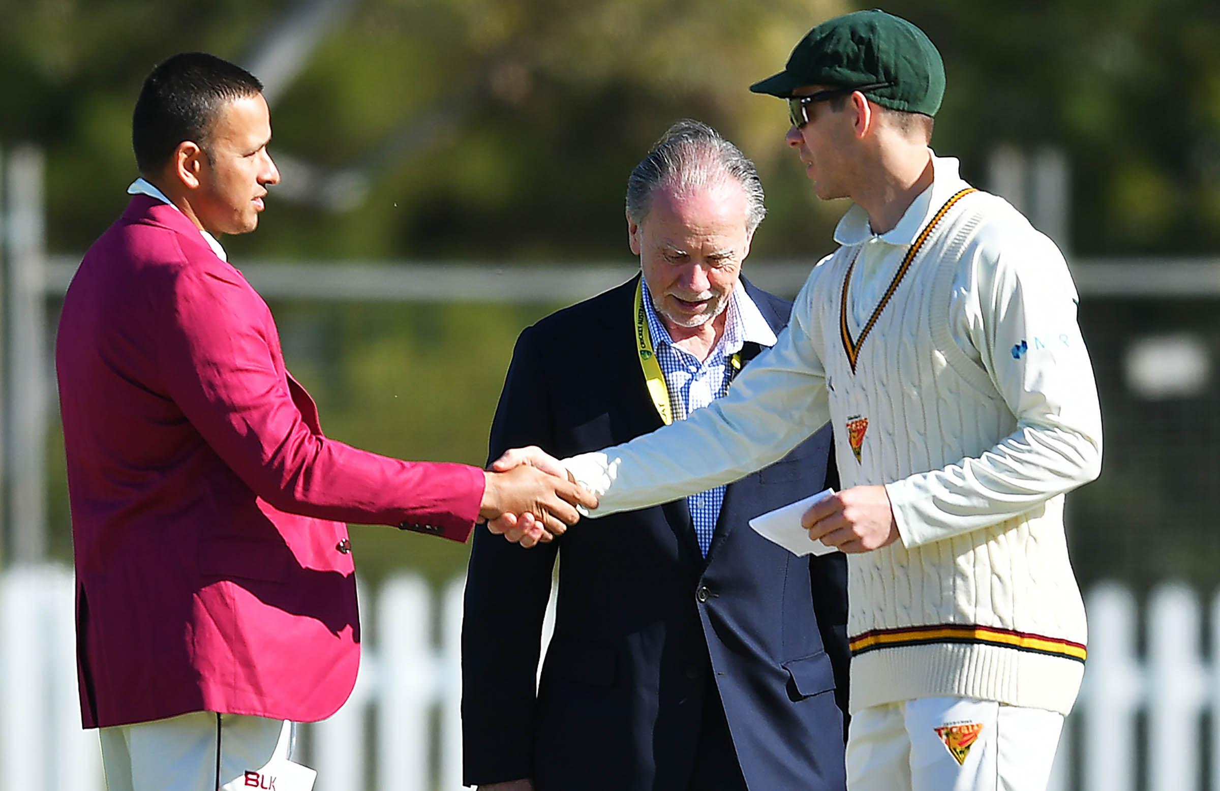 Former Aussie teammates Khawaja and Paine teed up a meeting for Peirson // Getty
