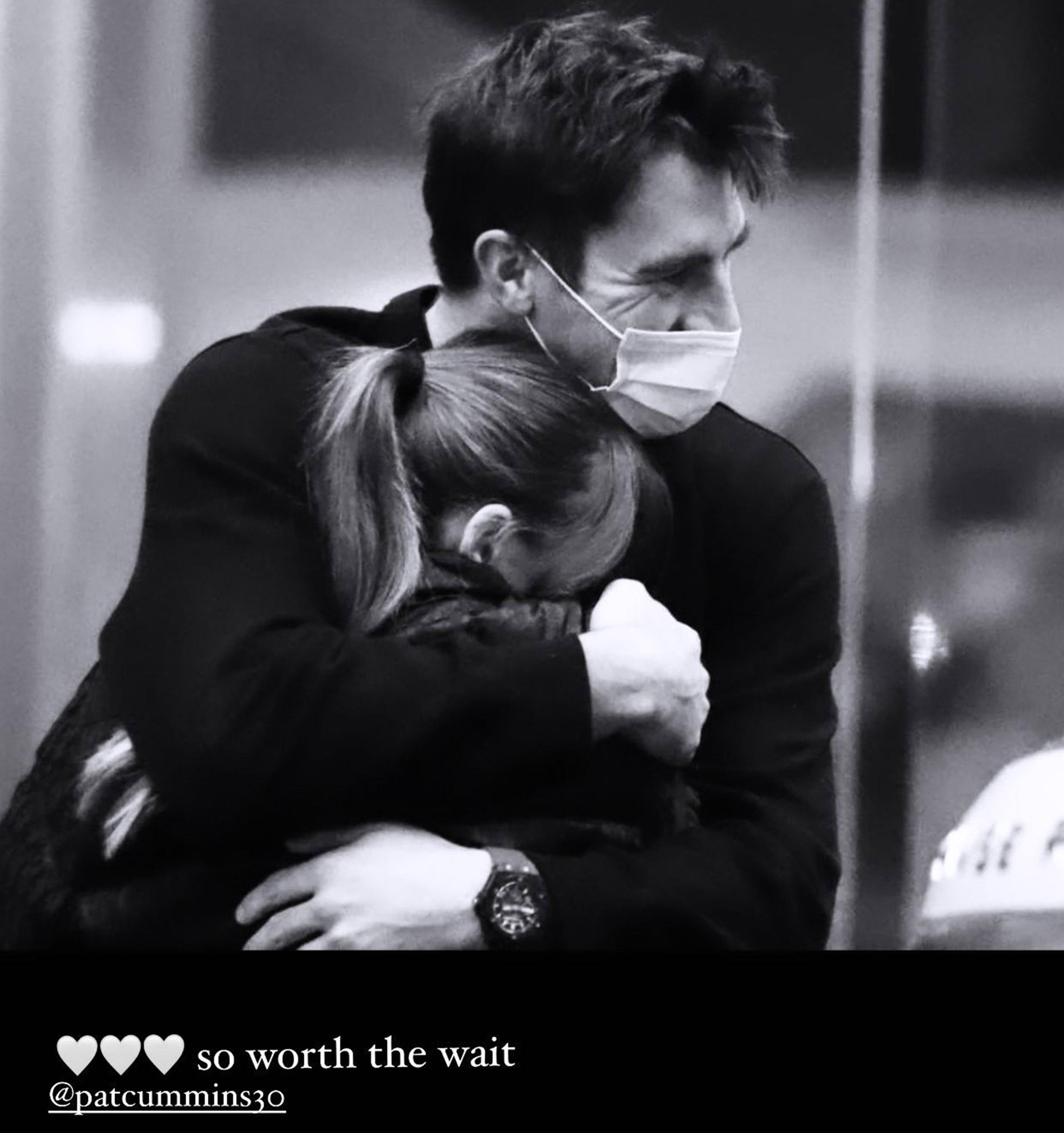 Pat Cummins with fiancée Beck Boston // Instagram