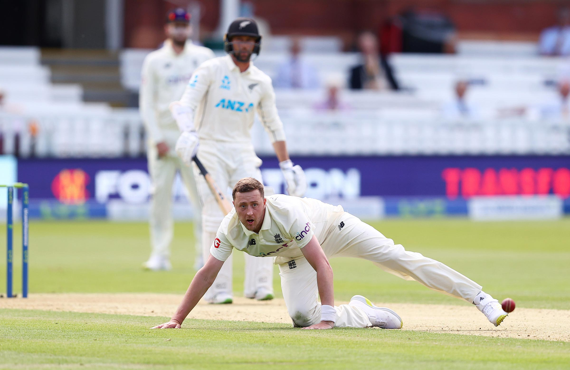 The tweets surfaced online while Robinson was on the field at Lord's // Getty