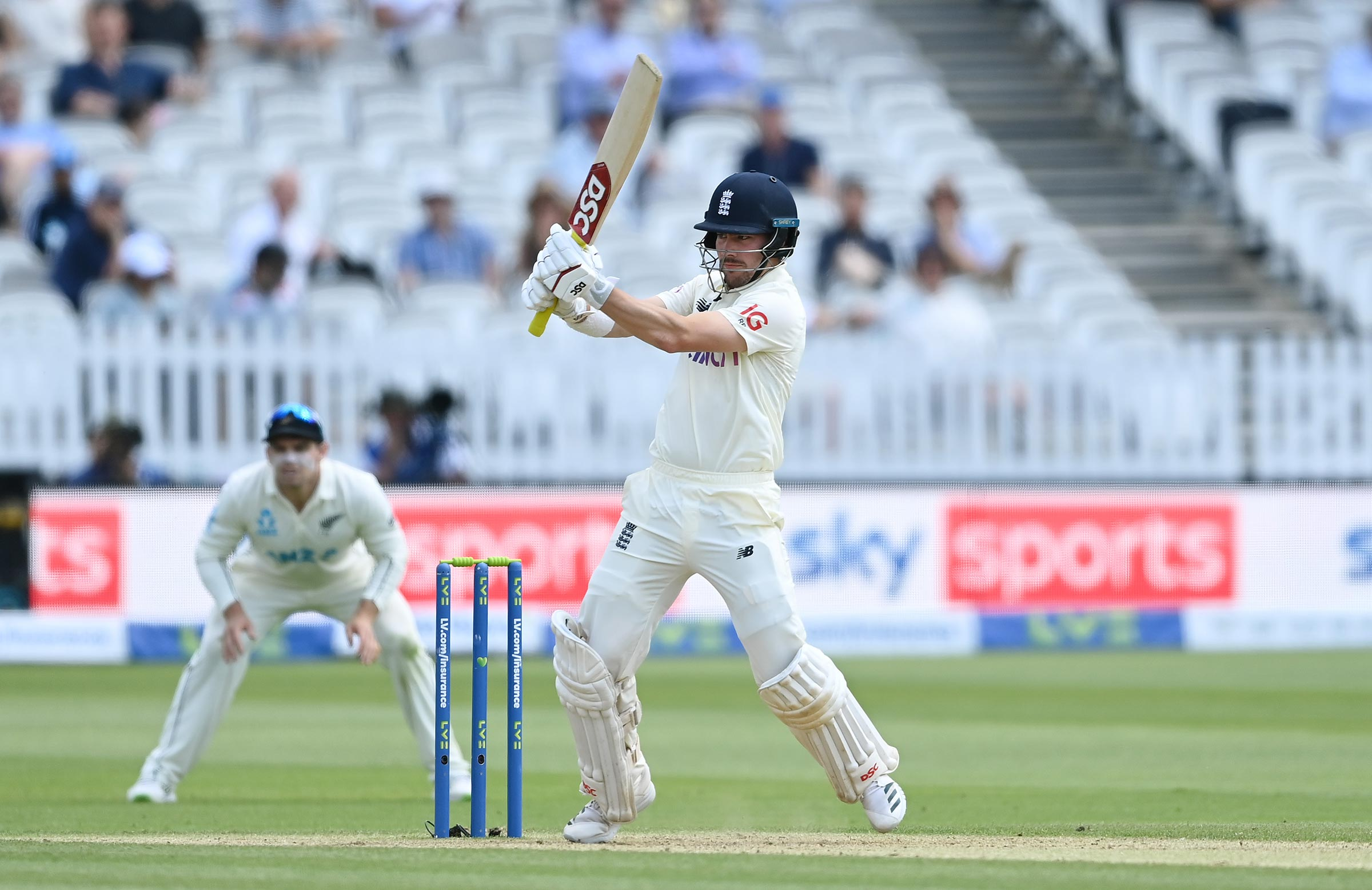Burns went on the attack after reaching three figures // Getty