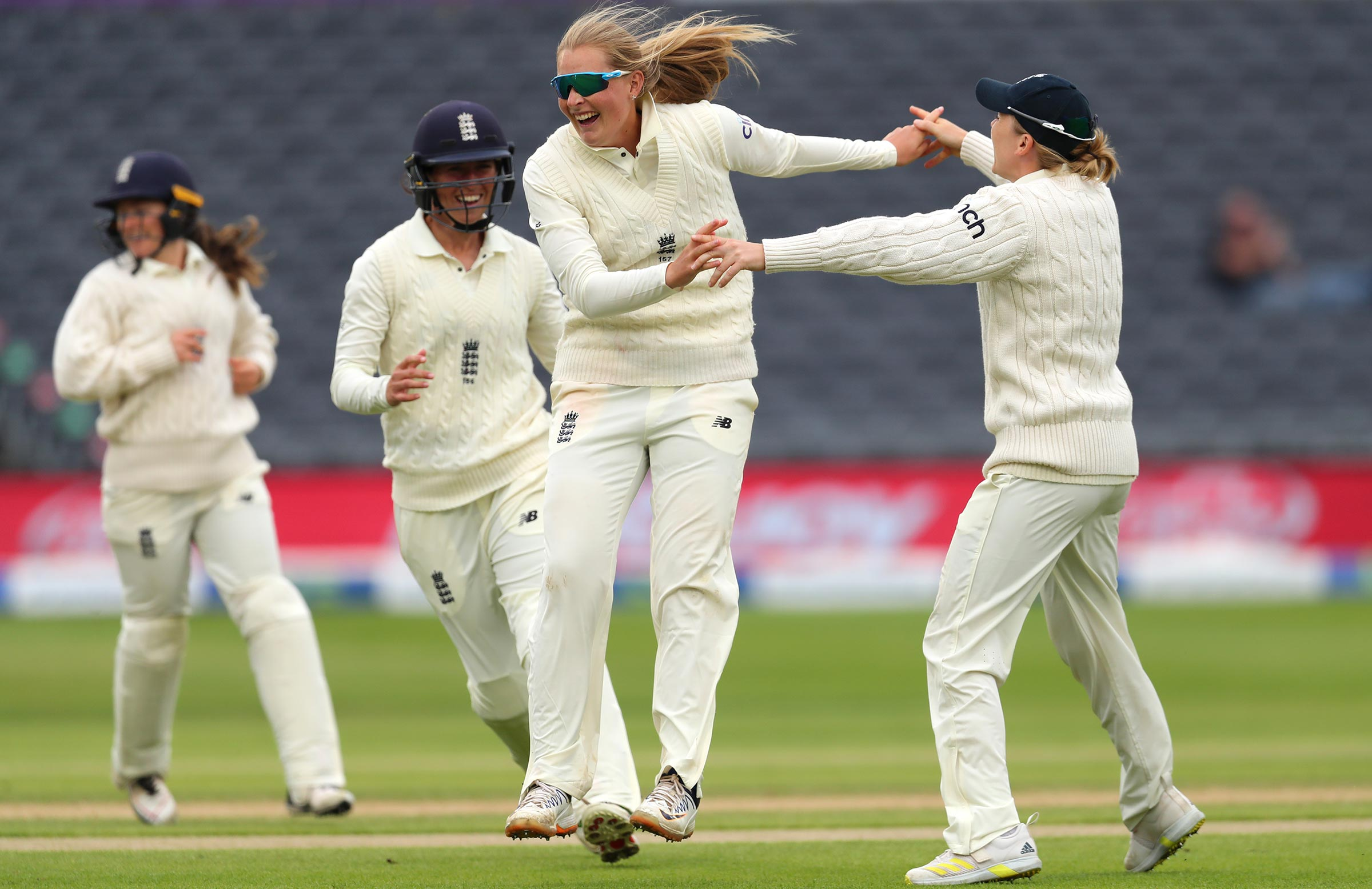 Sophie Ecclestone had put England on track for victory // Getty