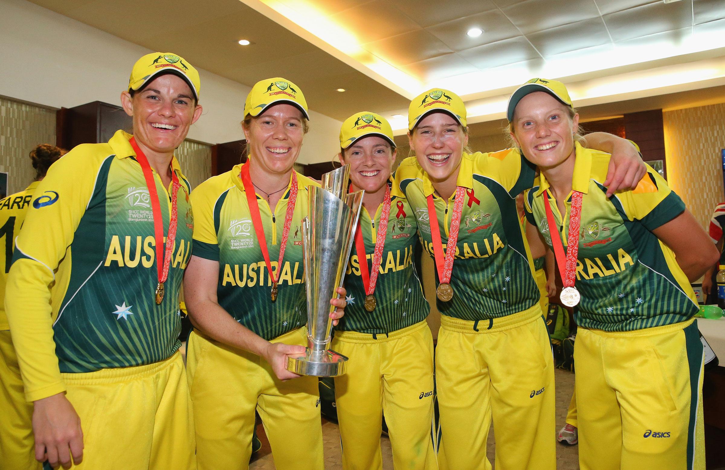Osborne celebrates after Australia's 2014 T20 World Cup triumph // Getty