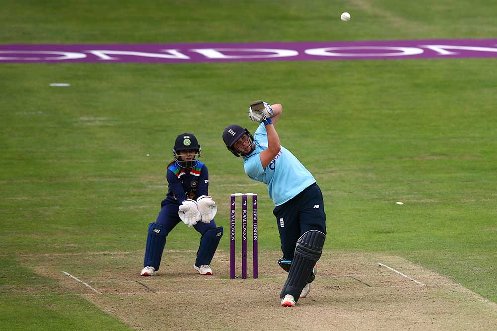 Nat Sciver hit10 fours and a six in her 74 not out // Getty