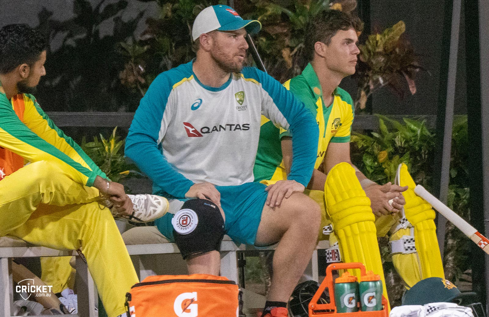 Finch ices his knee in St Lucia // cricket.com.au