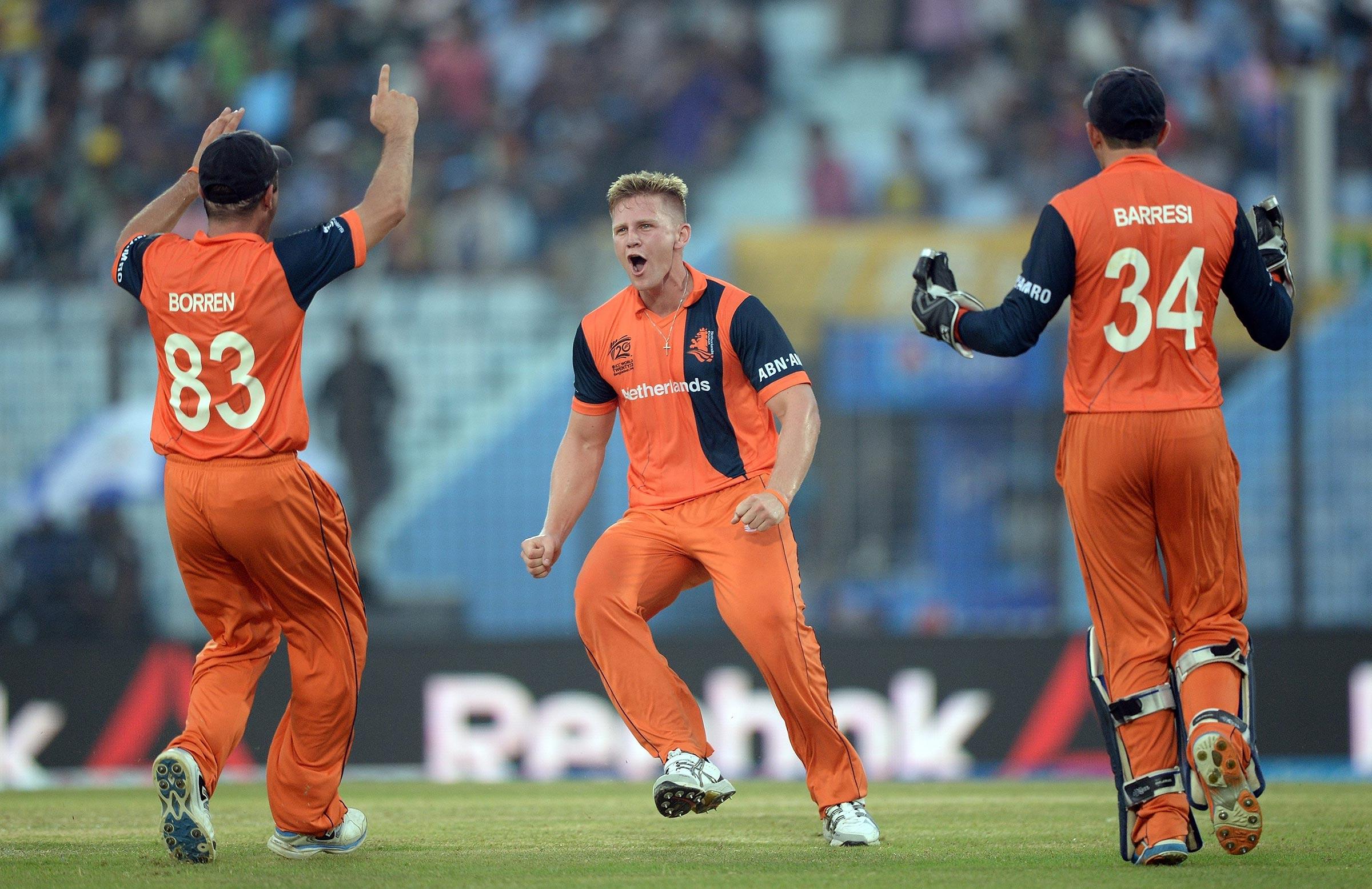 'Aussie' Timm van der Gugten is a key part of the Dutch bowling attack // Getty