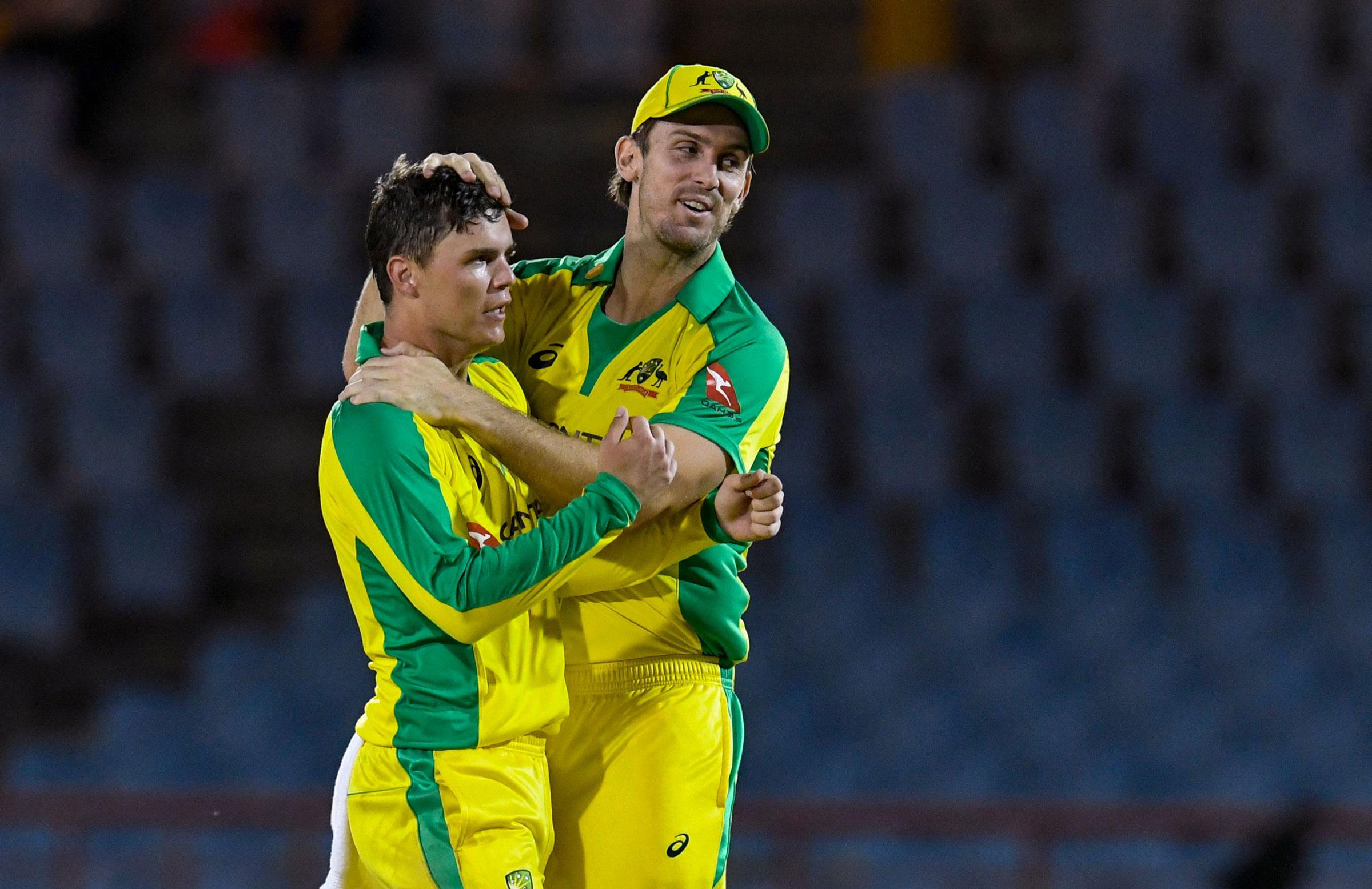 Swepson celebrates a wicket during Australia's Windies tour // Getty